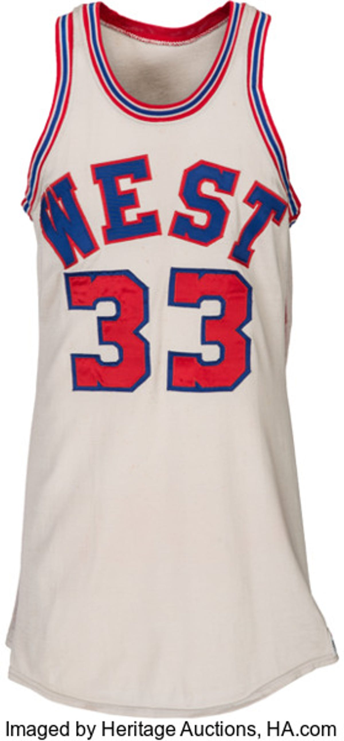 cheap for discount 775a0 77840 Kareem Abdul-Jabbar's 1971 All-Star Game jersey sells for ...