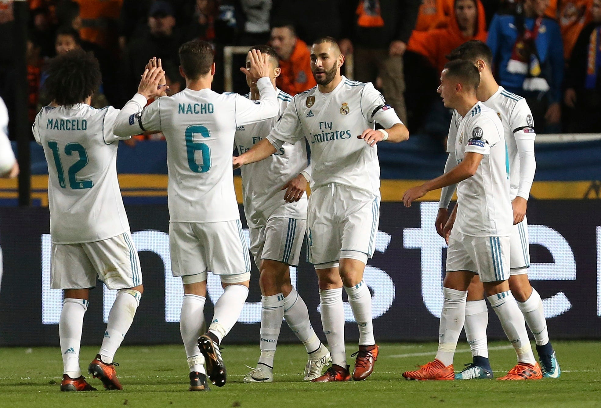 Madrid celebrates as Benzema and Ronaldo find the net again