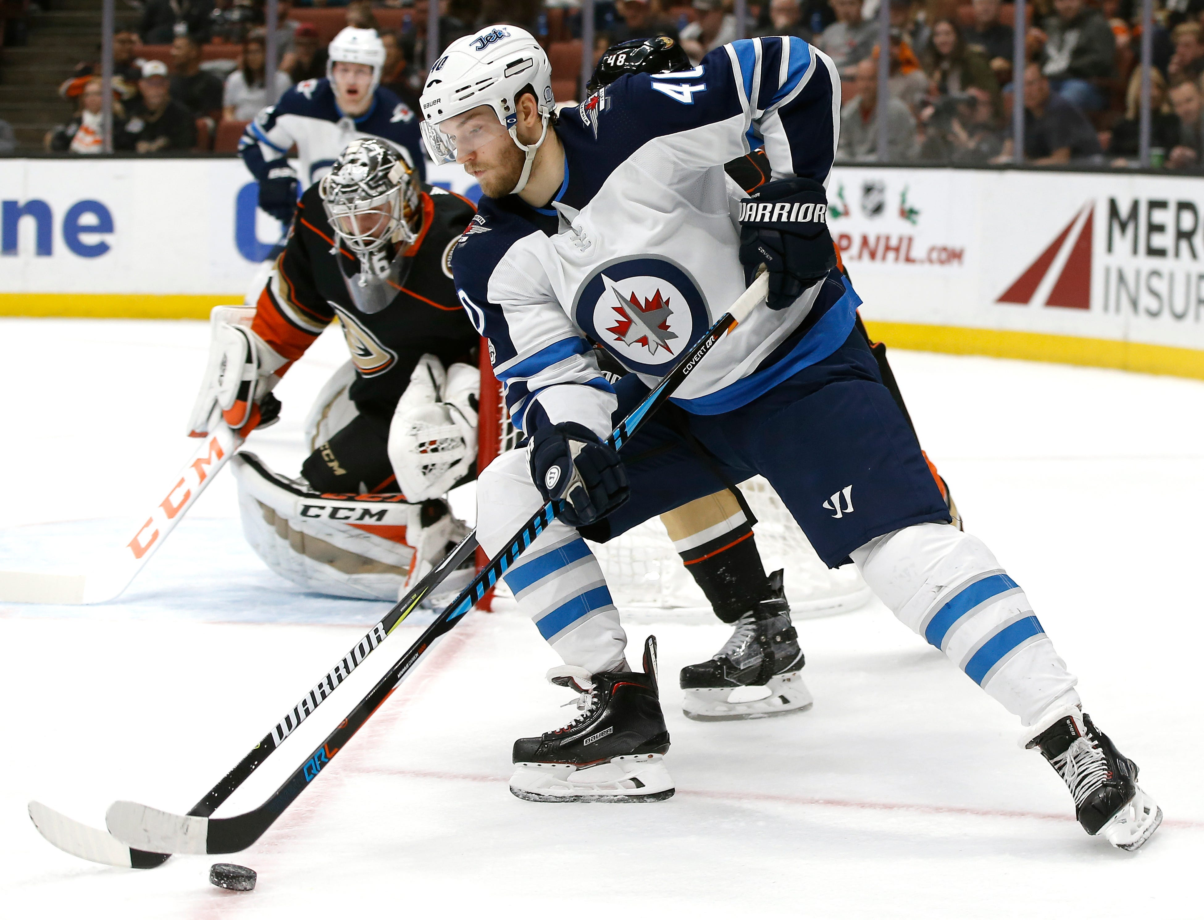 Streaking Jets roll past Ducks 4-1 on Ehlers' 2 goals