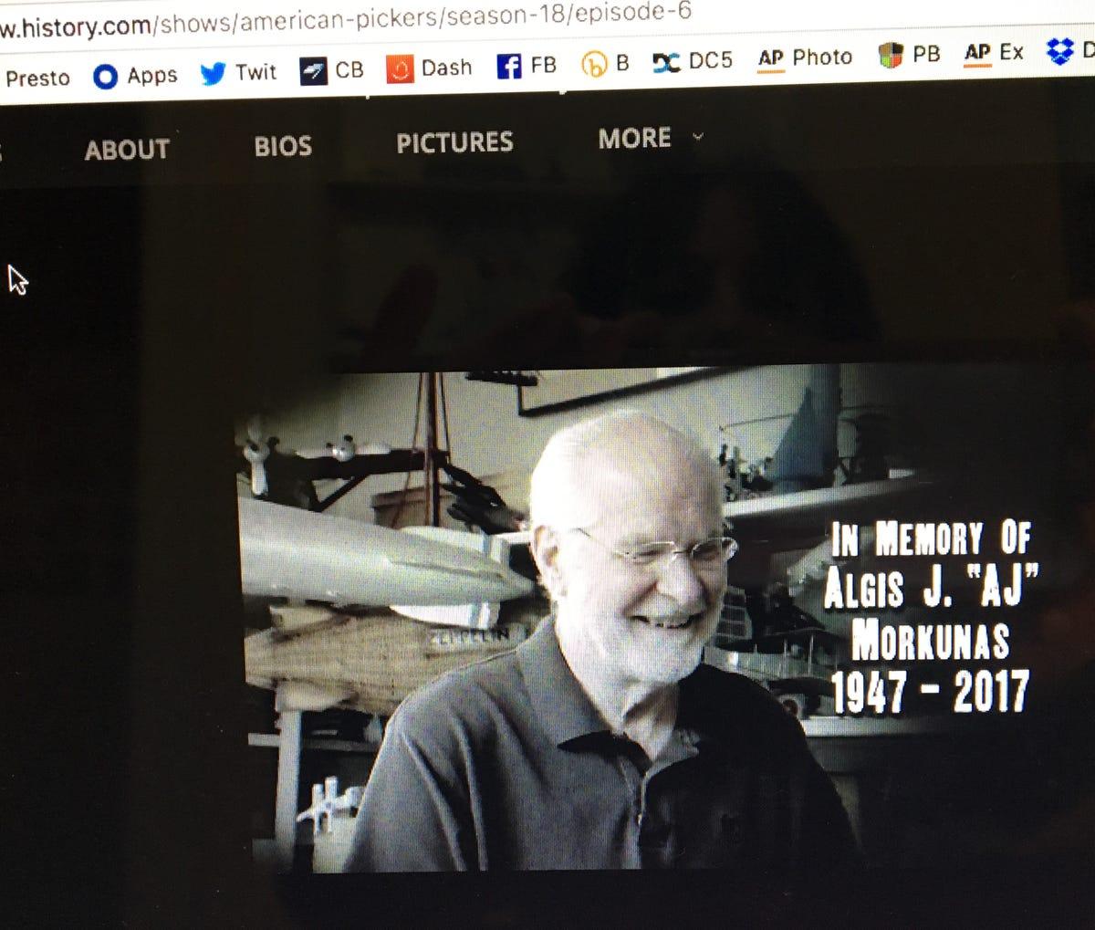 American Pickers' dedicates show to Staunton's Al Morkunas