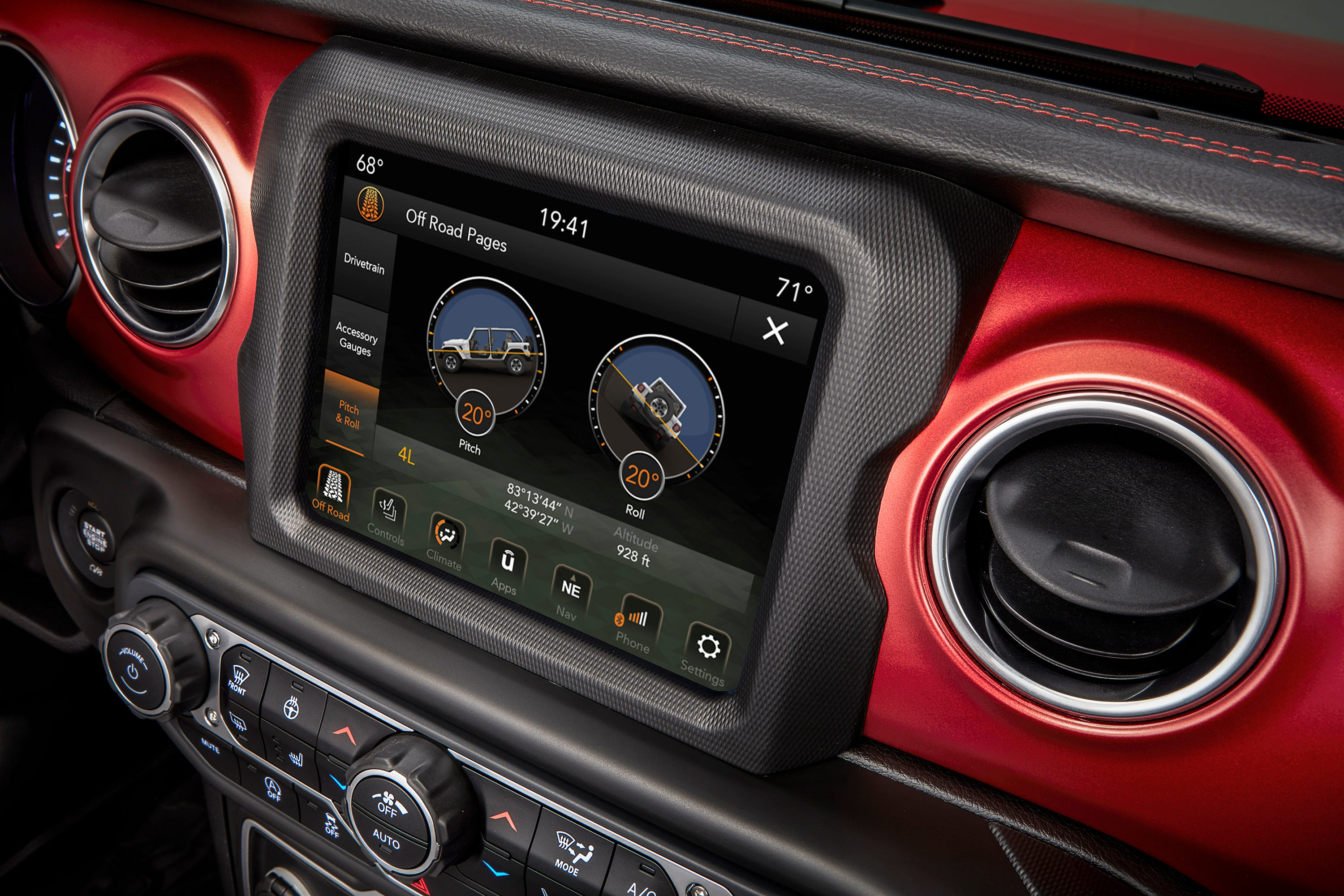 This is the video screen in the 2018 Jeep Wrangler