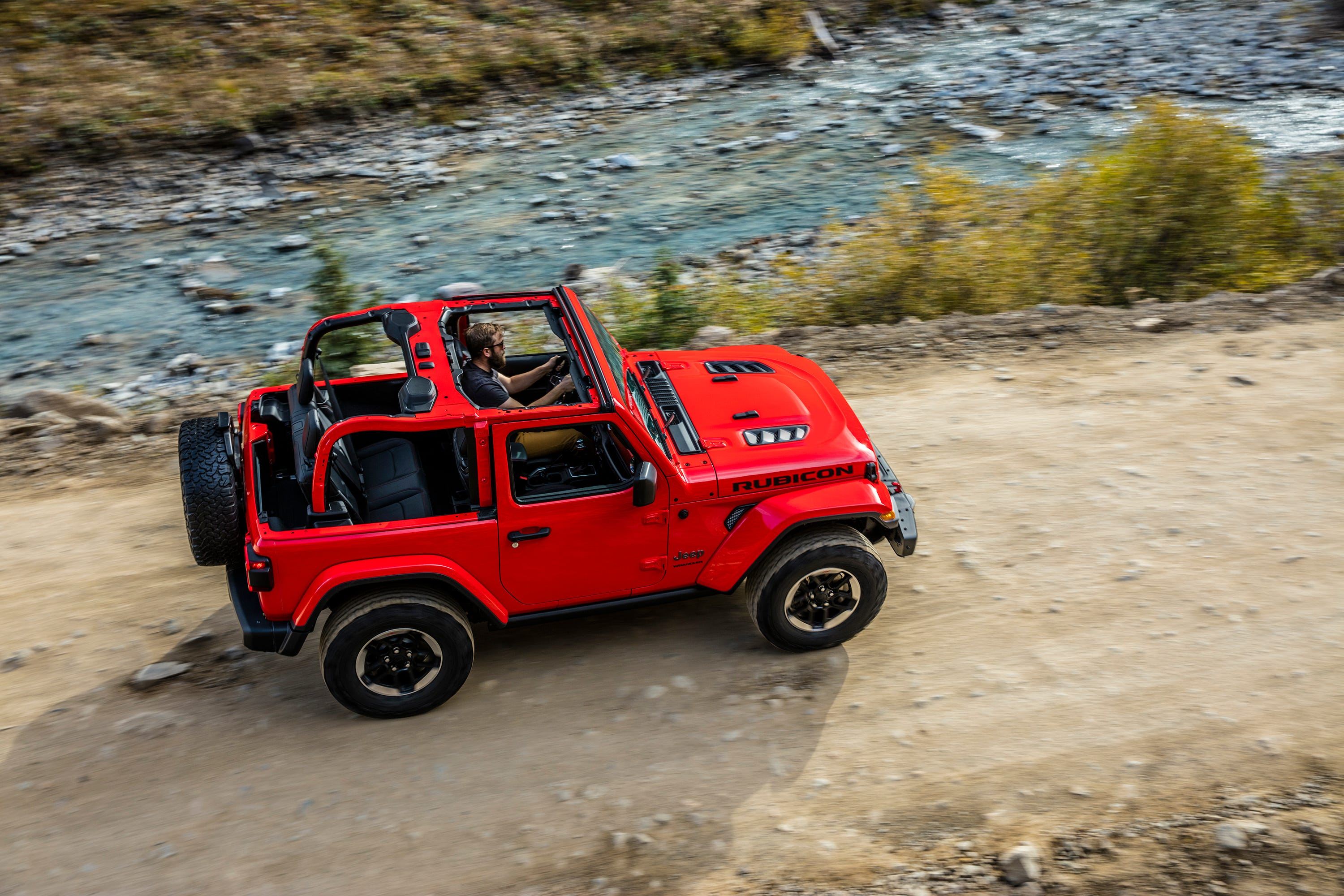 The 2018 Jeep Wrangler's roof, glass and doors can