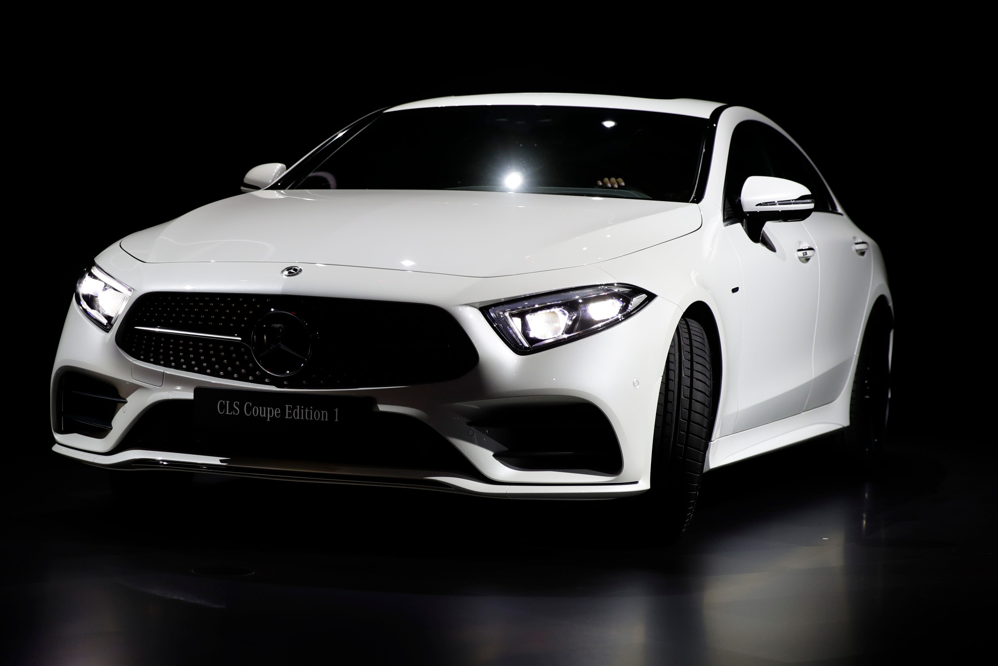 The 2019 Mercedes-Benz CLS coupe is revealed during