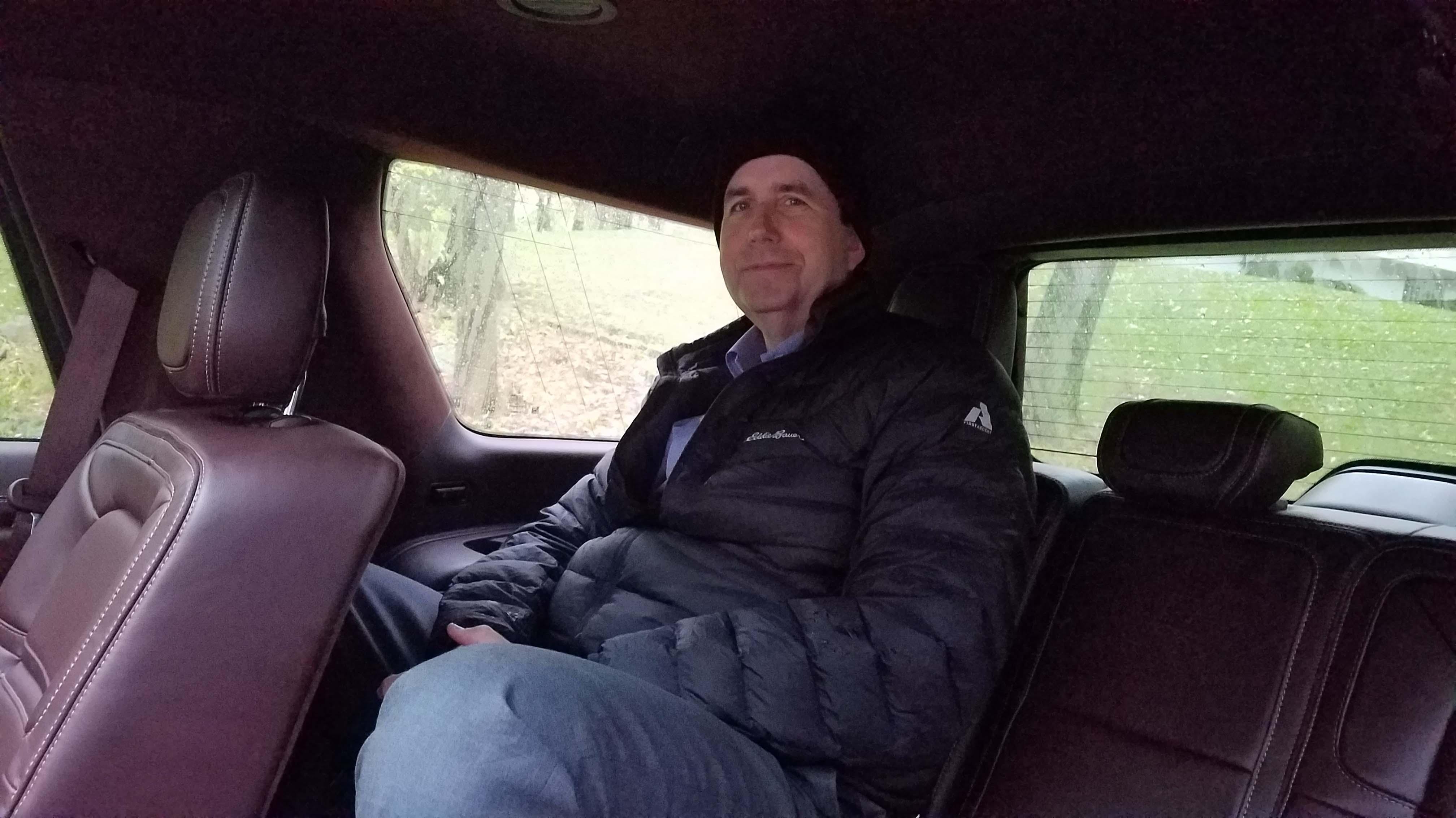 Detroit News auto critic Henry Payne — all 6'5