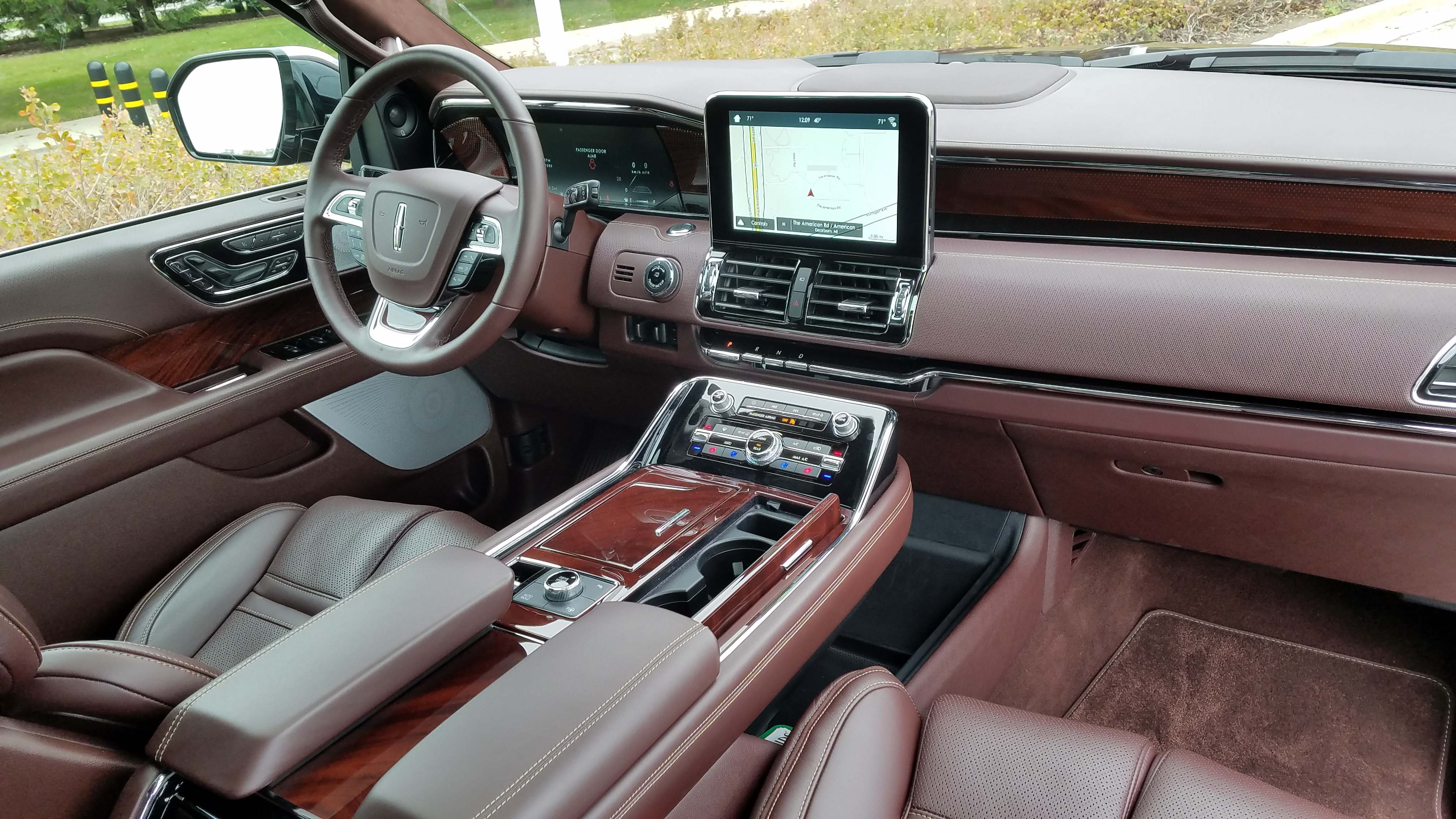 The interior of the Lincoln Navigator is a posh place