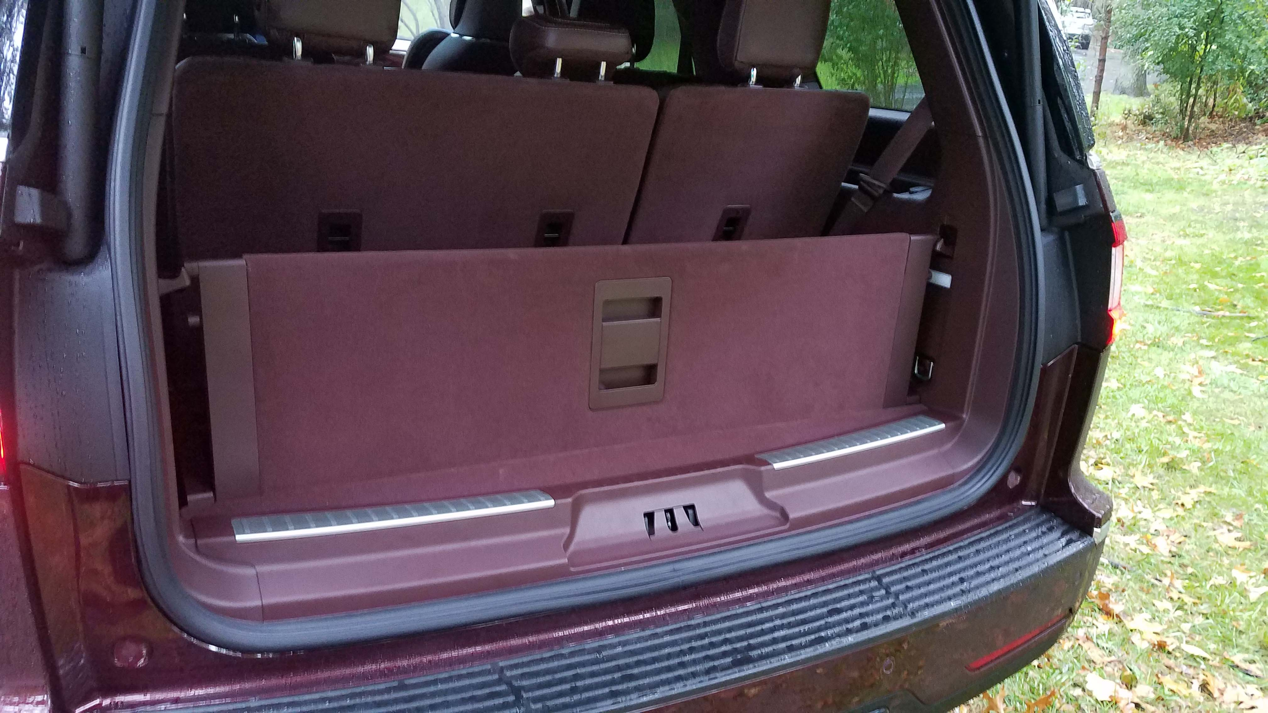 The rear cargo space of the Lincoln Navigator is versatile
