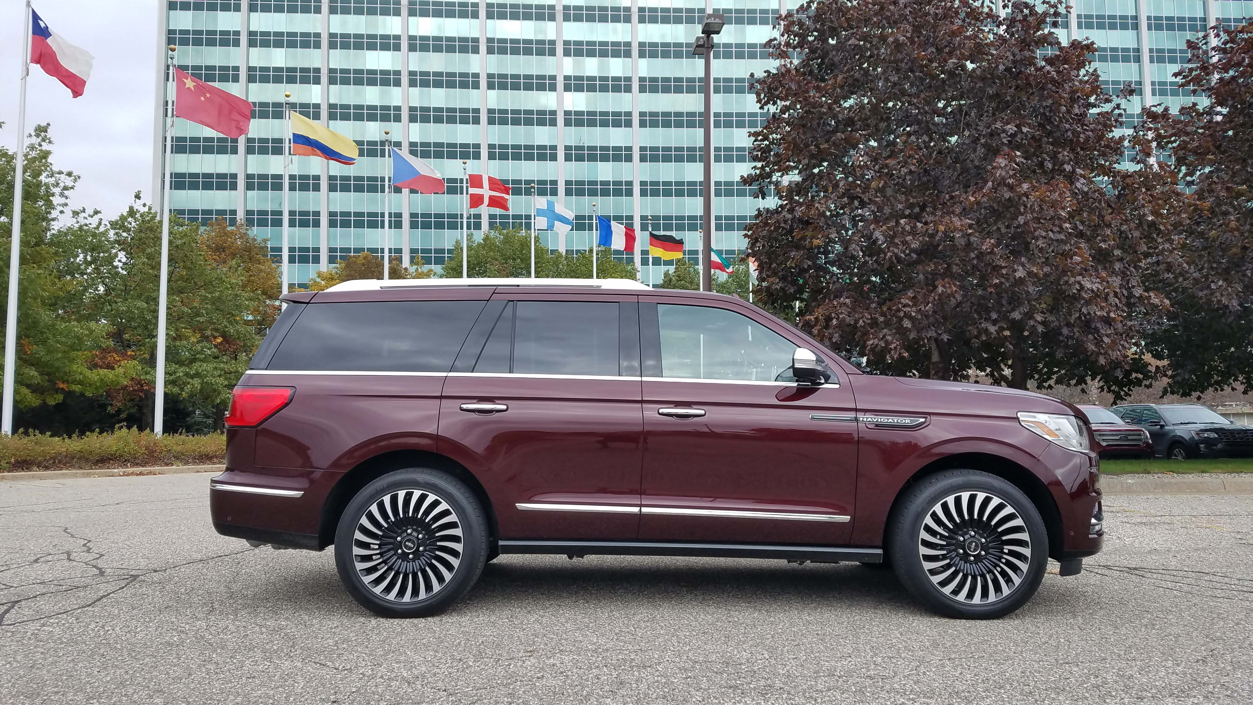 The 2018 Lincoln Navigator is 6 1/2 feet tall and 18