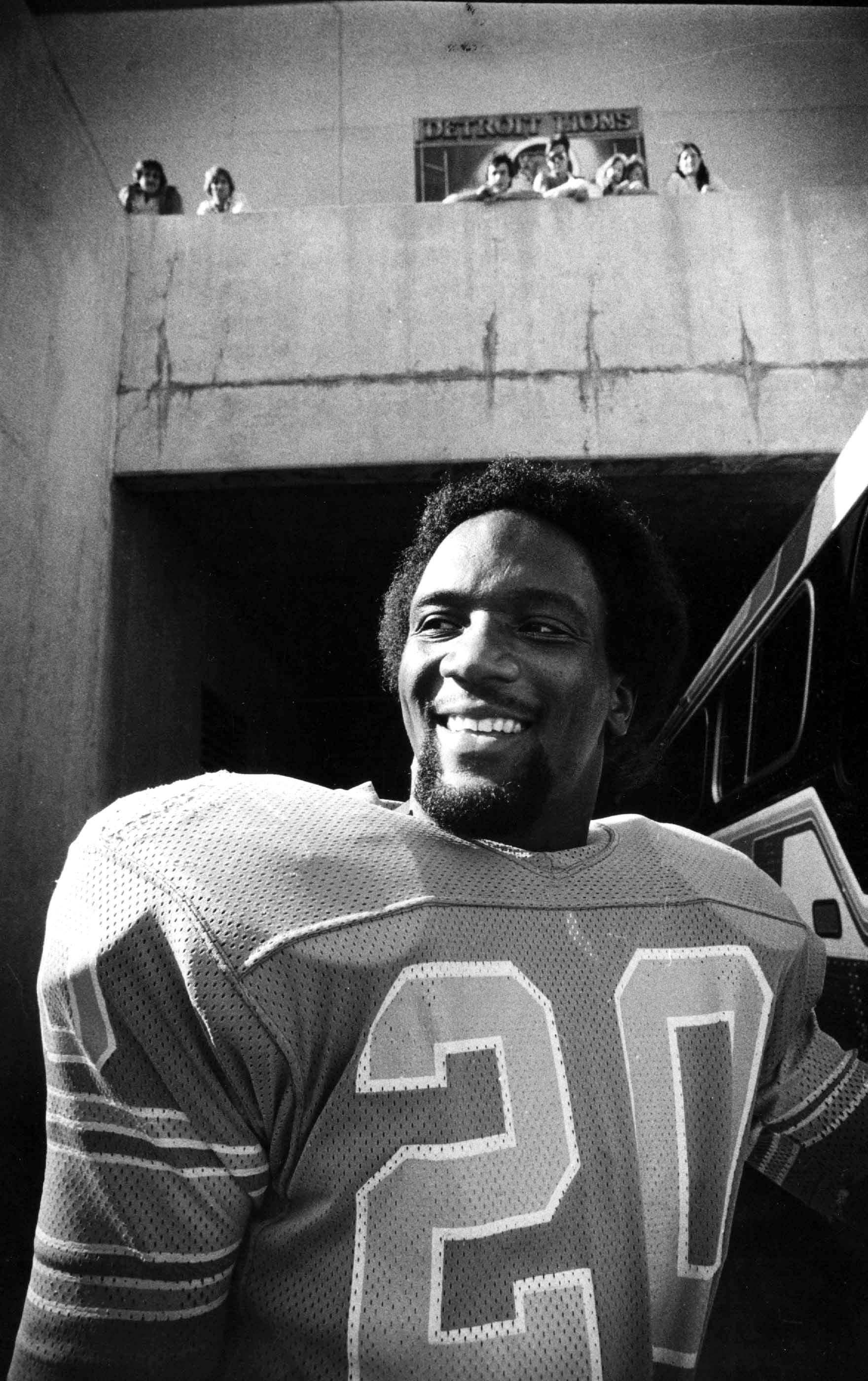 Billy Sims, star running back for the Detroit Lions