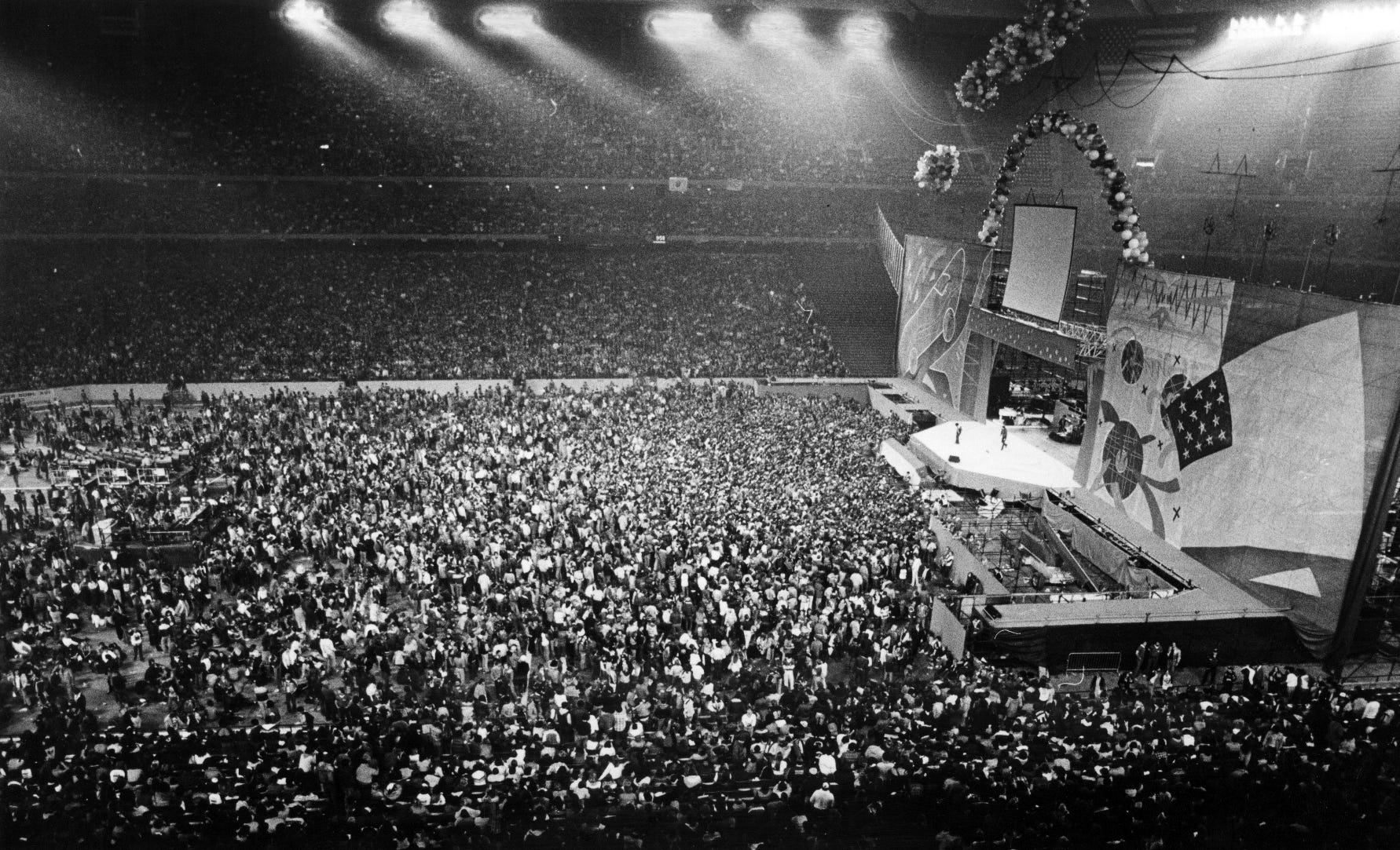 The Silverdome is packed for a Rolling Stones concert