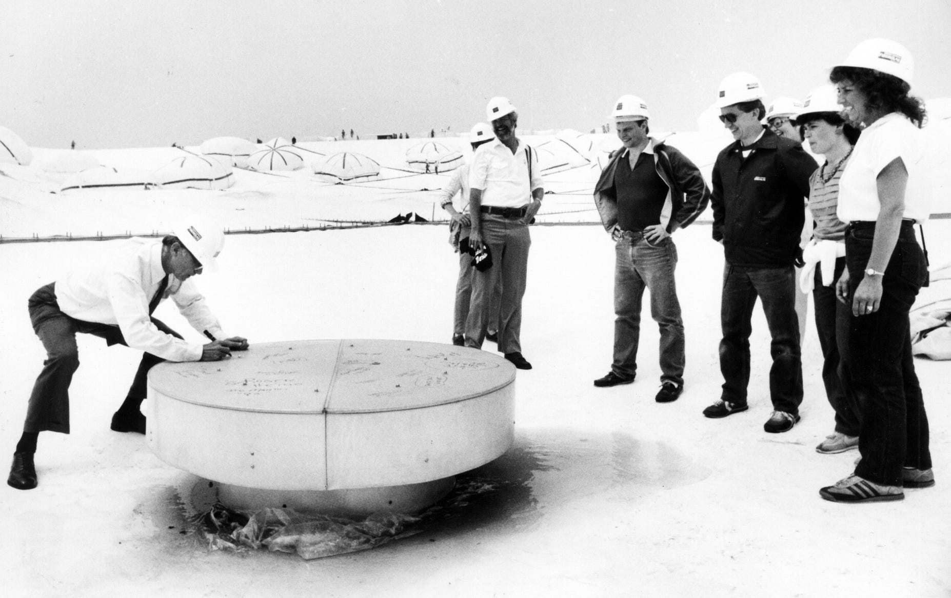 A new roof was in place by May 30, 1985. Bill Boaschenstein,