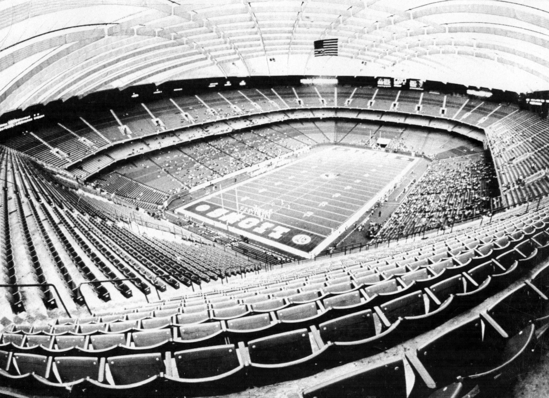 There were plenty of empty seats at the Detroit Lions'