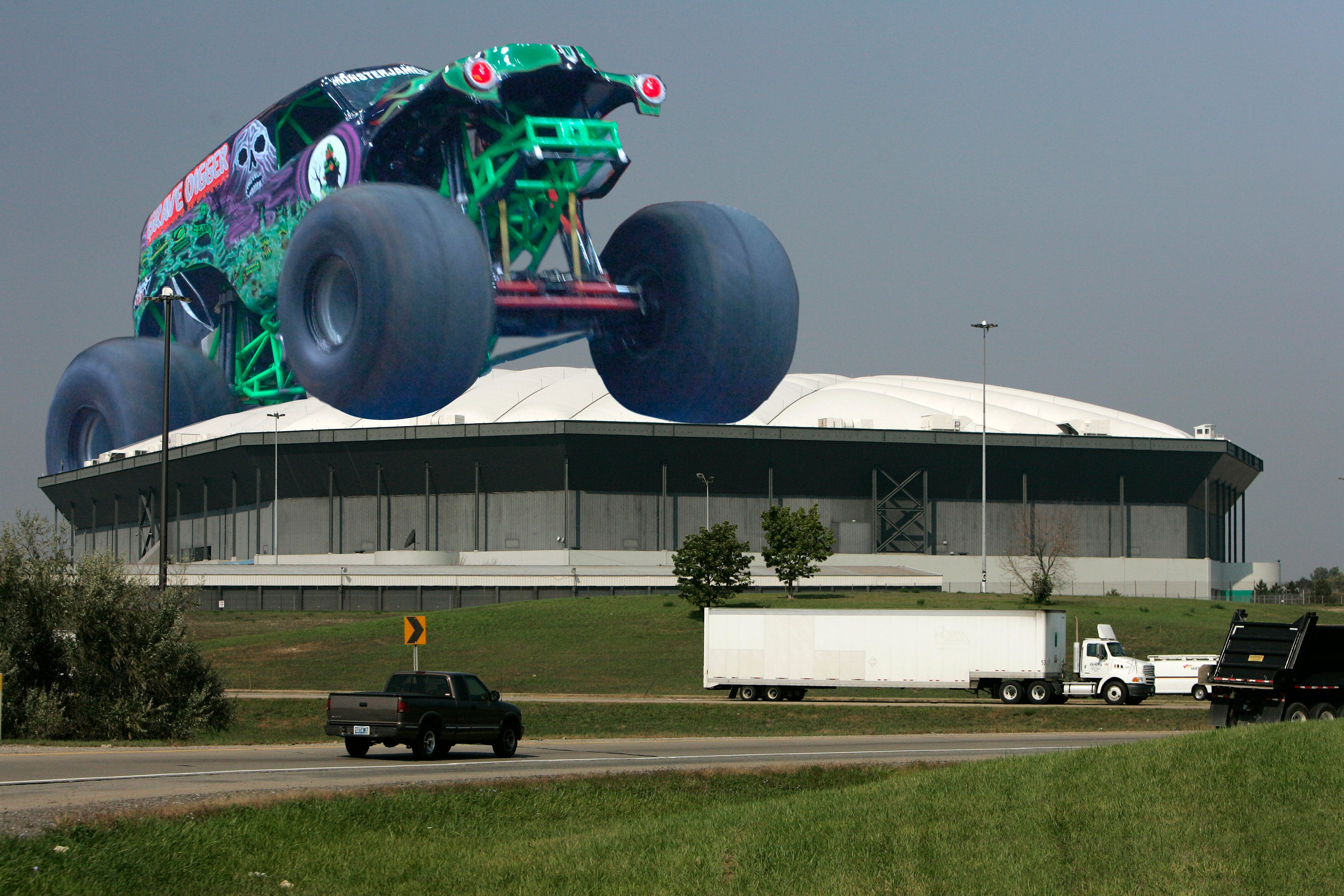 On October 5, 2005, a giant inflatable monster truck