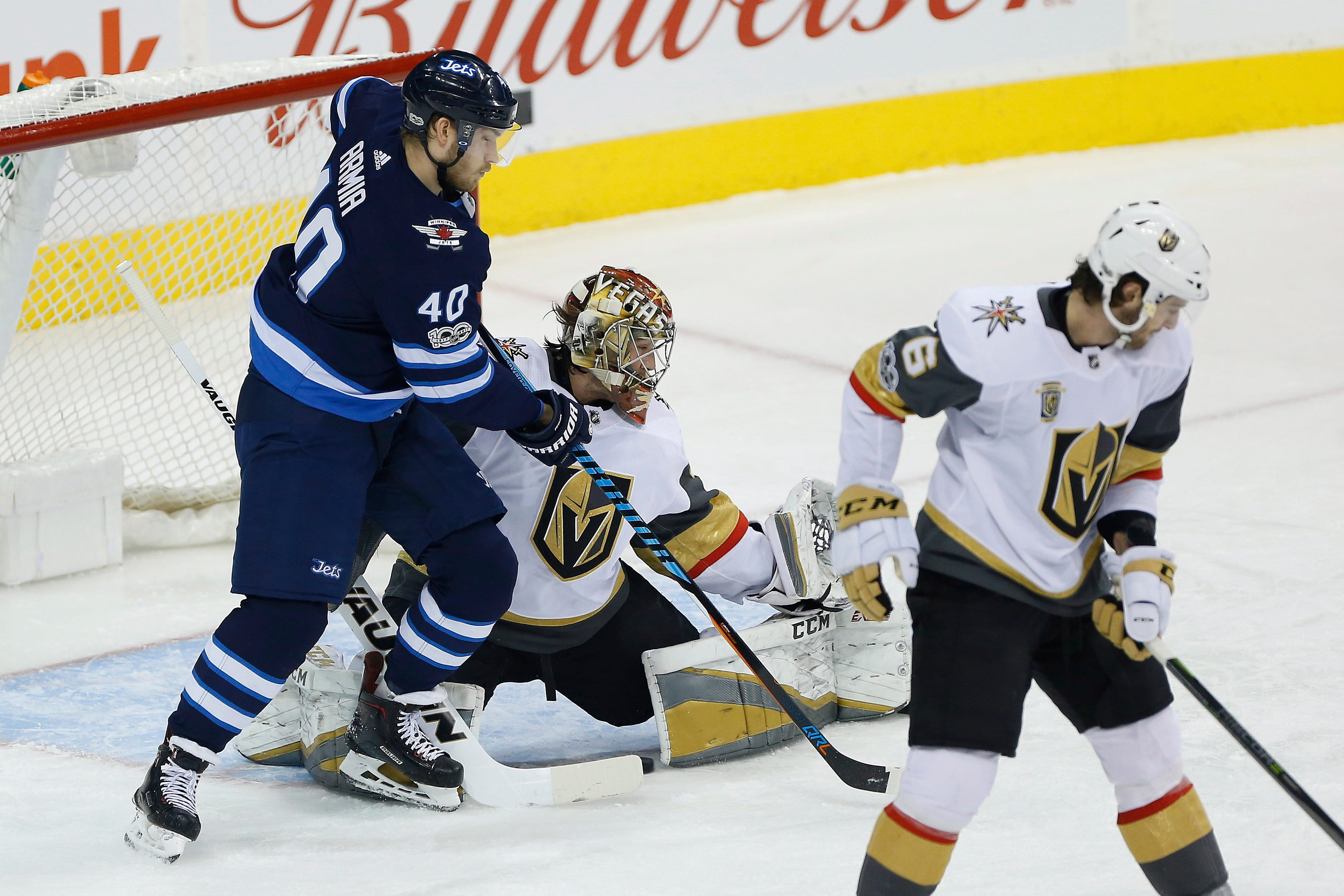 Connor scores 2 as Jets get big 3rd period, beat Vegas 7-4