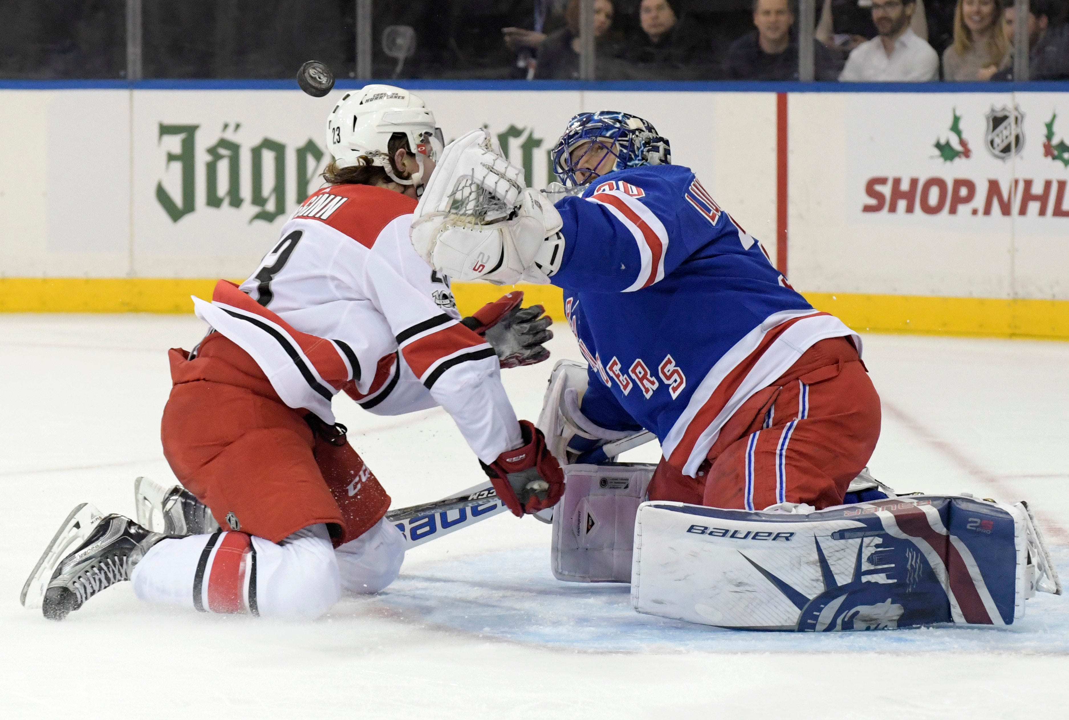 Grabner scores 3 to lead Rangers in 5-1 win over Hurricanes