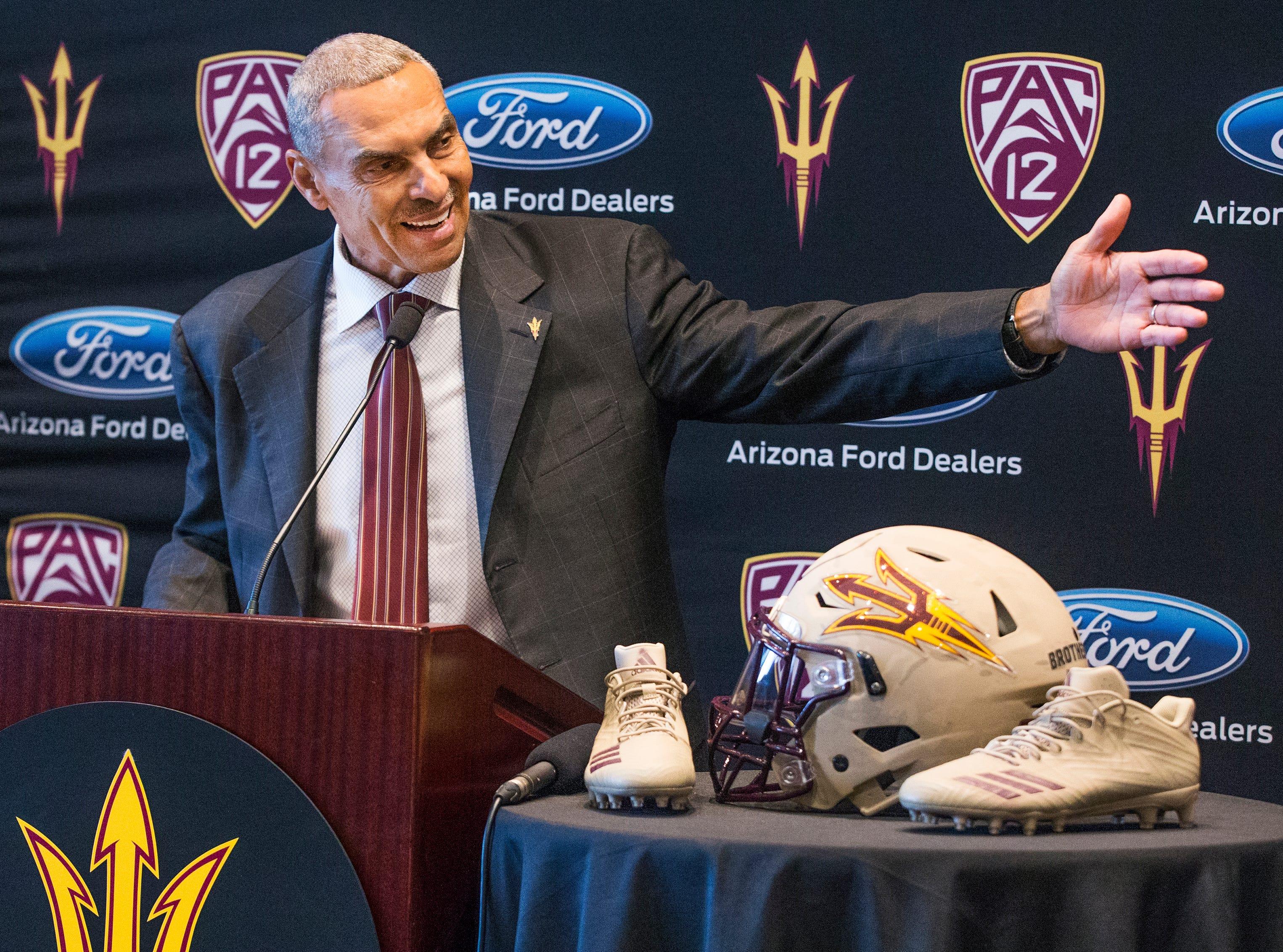 Arizona State University head football coach Herman