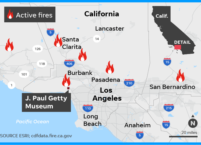 Santa Clarita Brush Fire Map.Los Angeles Threatened By New Wildfire