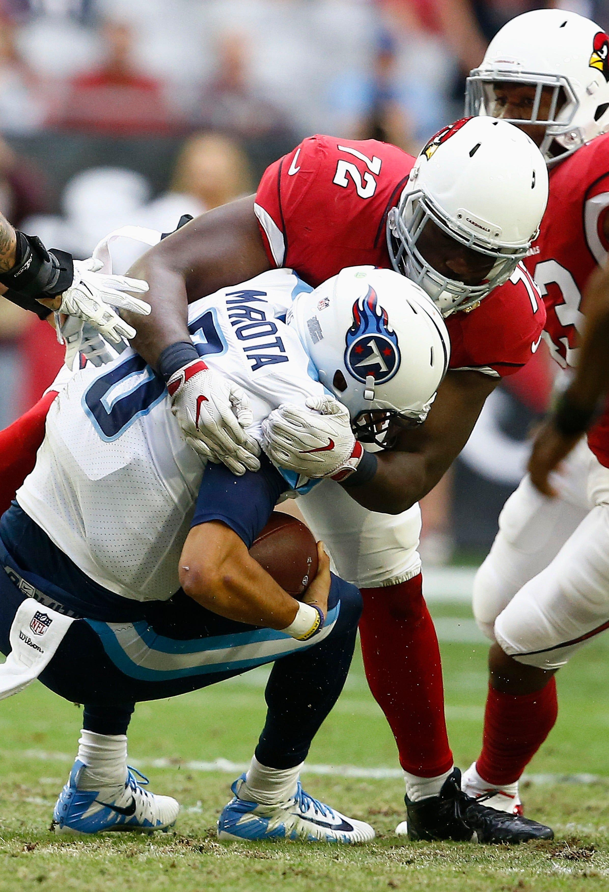 Mariota struggles in Titans' 12-7 loss to Cardinals