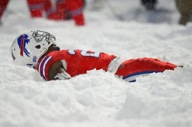 Buffalo Bills Vs Indianapolis Colts Snow Fest In Orchard Park