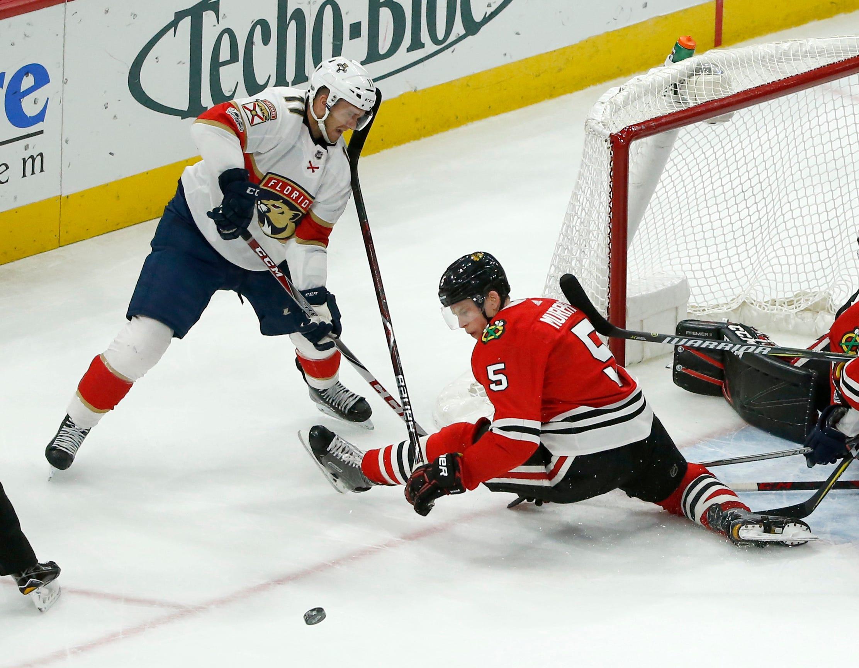 Kane scores in OT as Blackhawks beat Panthers 3-2