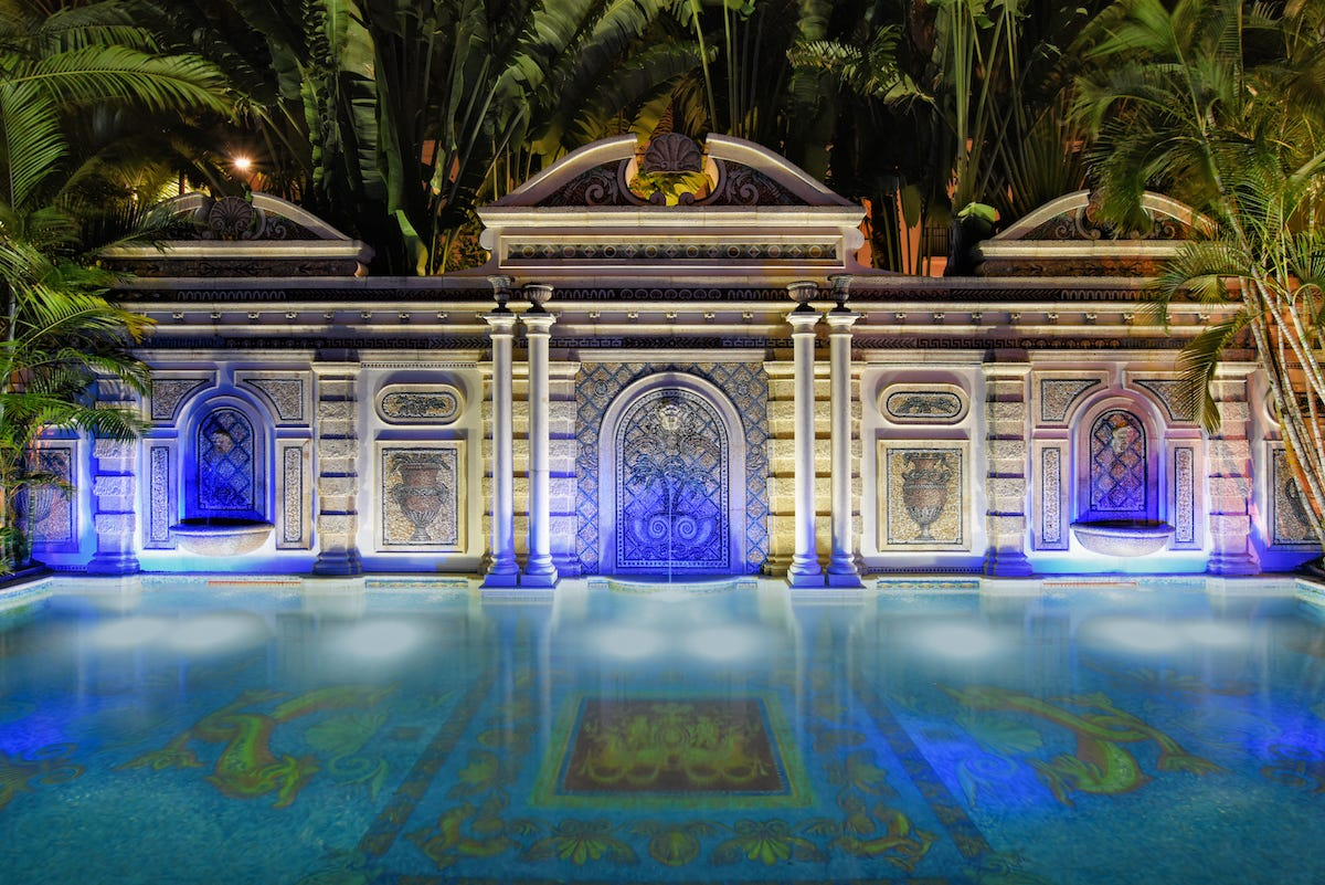 Italian Food Near Me Abandone Building Casa: Take A Look Inside The Versace Mansion In Miami