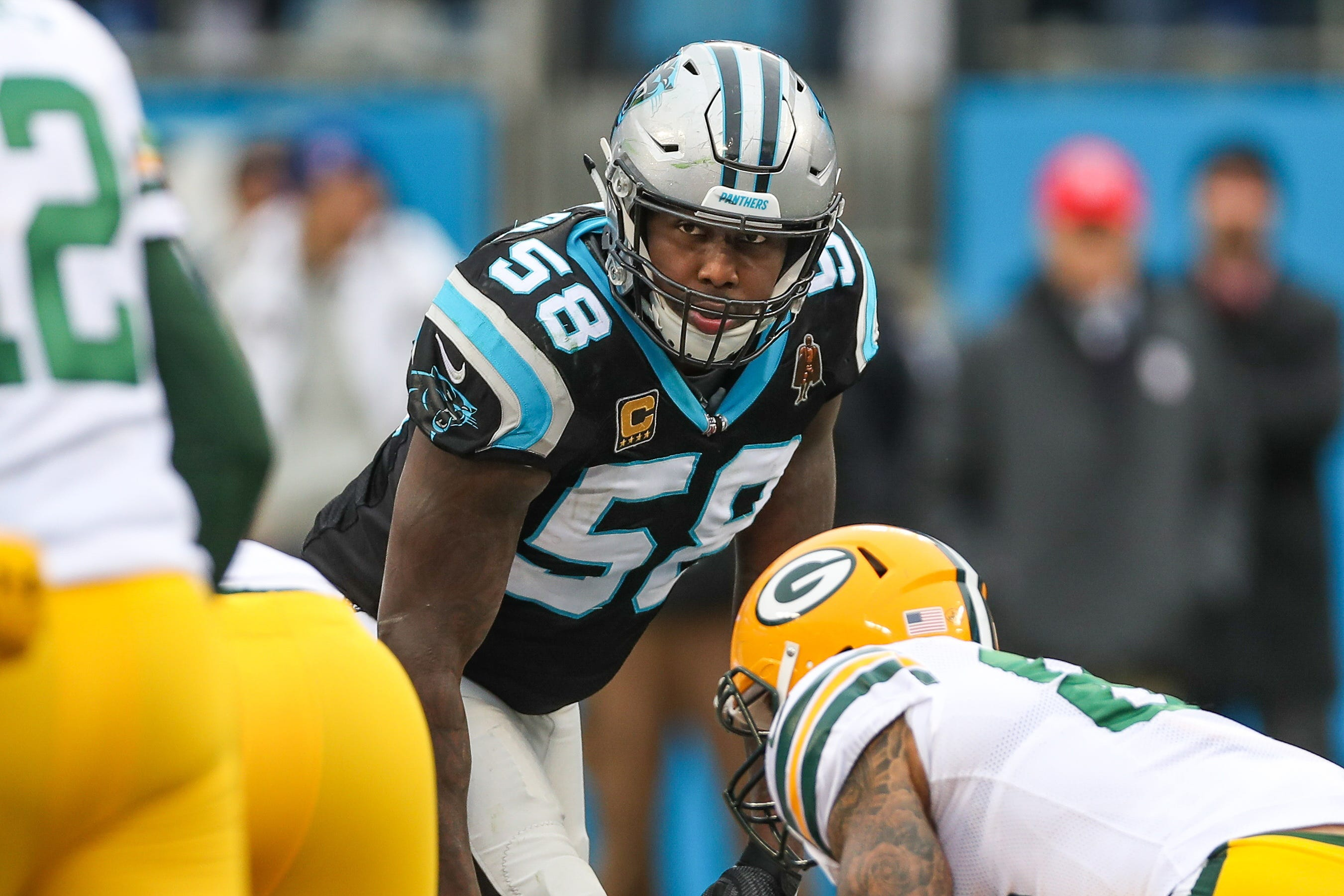 Panthers' Thomas Davis suspended 2 games for hit on Packers' Davante Adams