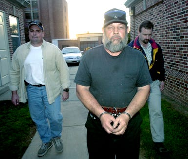 Robert Messersmith is pictured in 2001 on the night of his arraignment for criminal homicide in the July 1969 murder of Lillie Belle Allen, a black woman, who was shot during a week race riots in York. Messersmith fired the shot that killed Allen, prosecutors said.