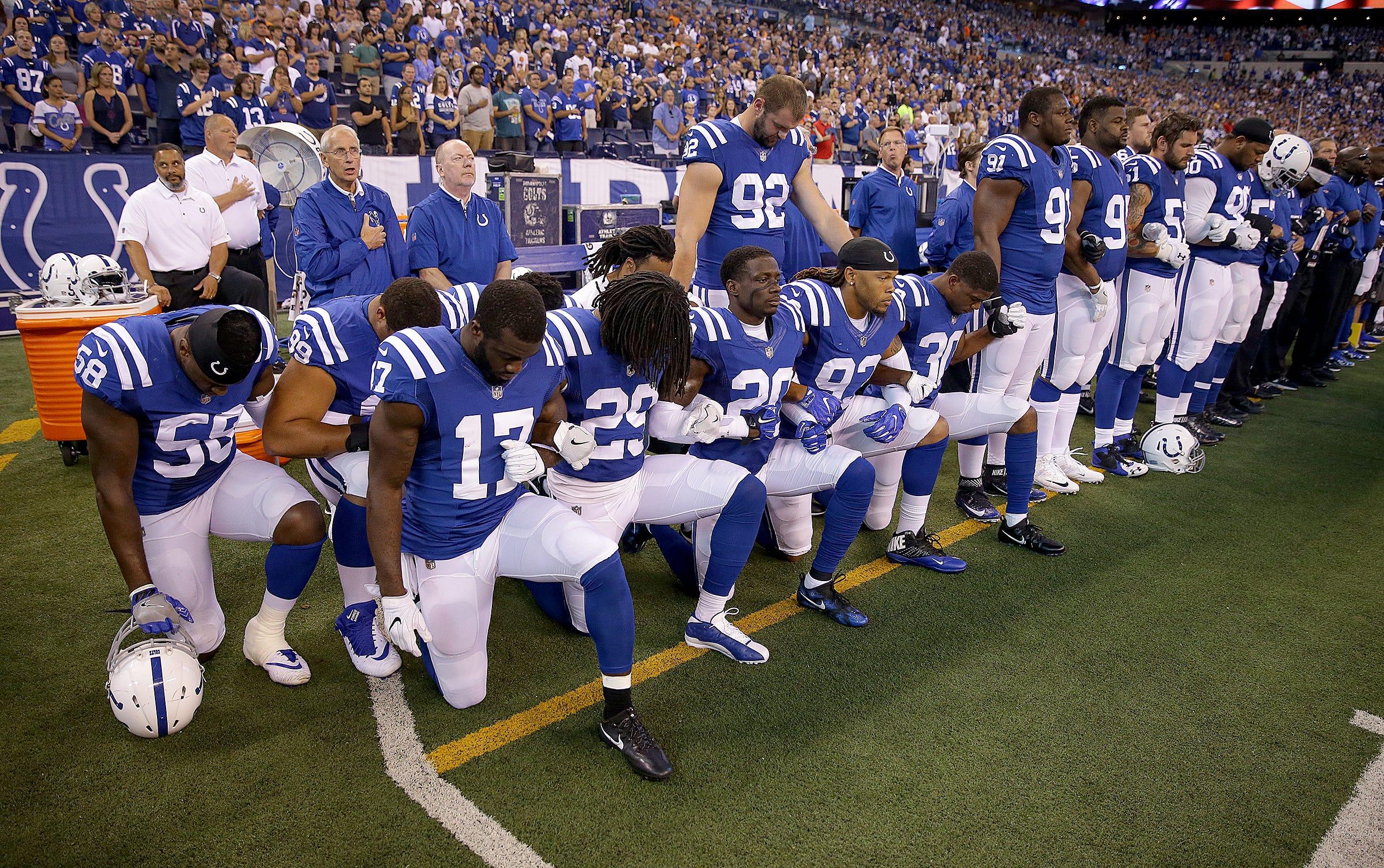 NFL new national anthem kneeling policy enslaves black players, fans