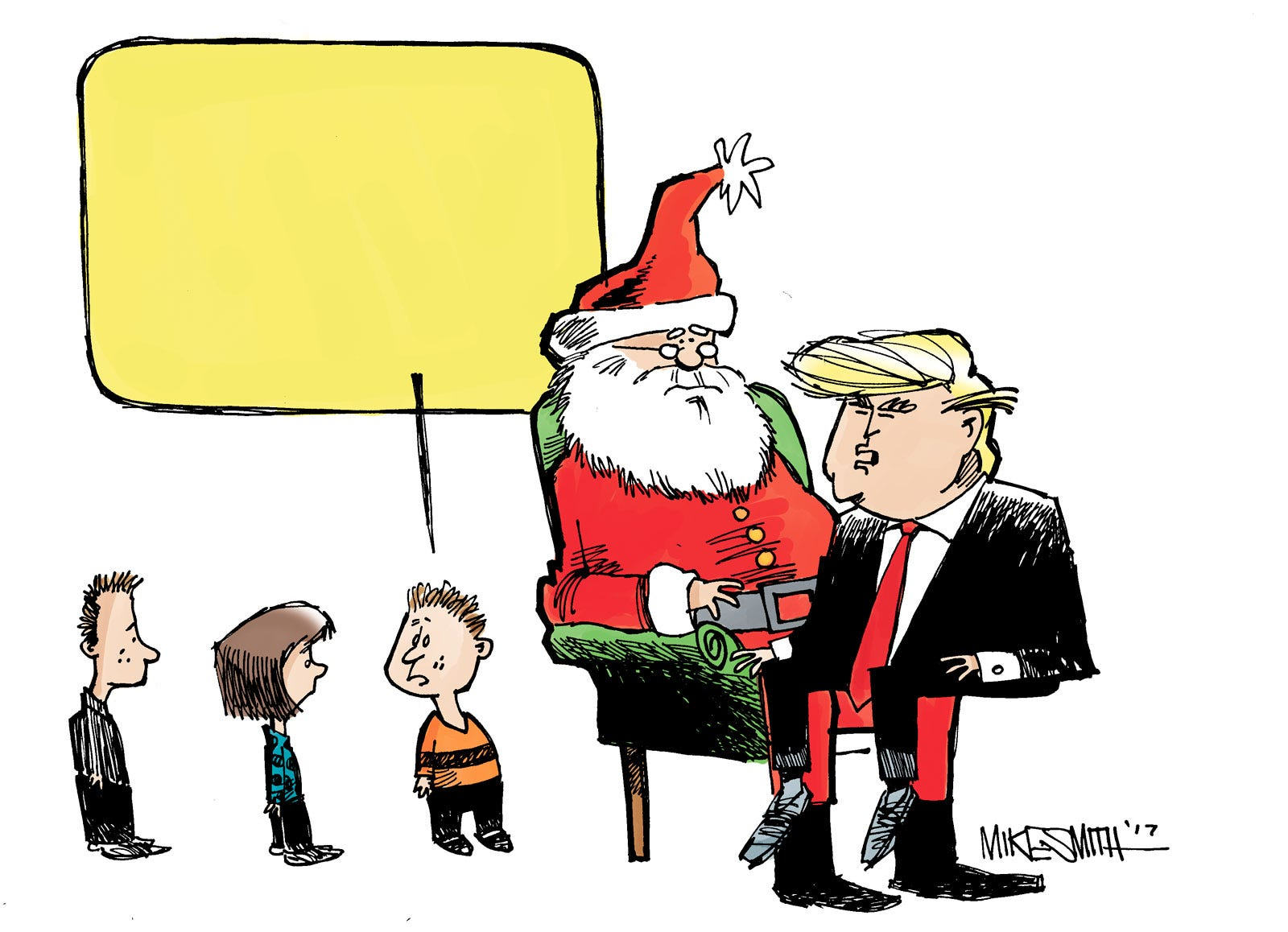 YouToon: It's Santa and Trump. Give us a caption!
