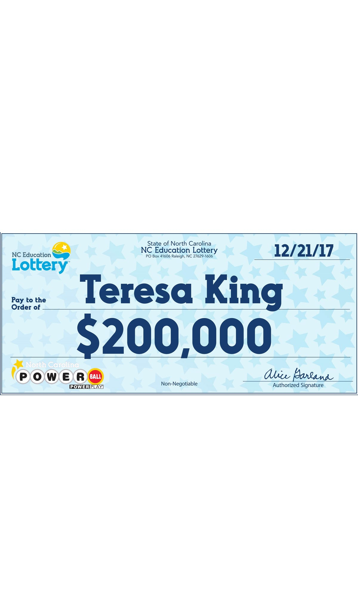 Christmas miracle': Fletcher woman wins $200K on old Powerball ticket