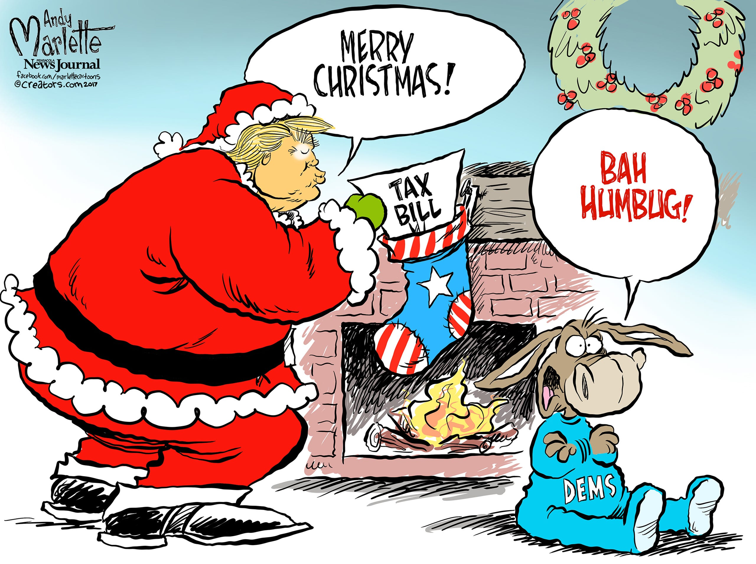 Christmas Cartoons by Marlette!