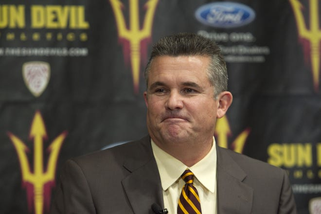 Todd Graham is introduced as ASU's head football coach in 2011.