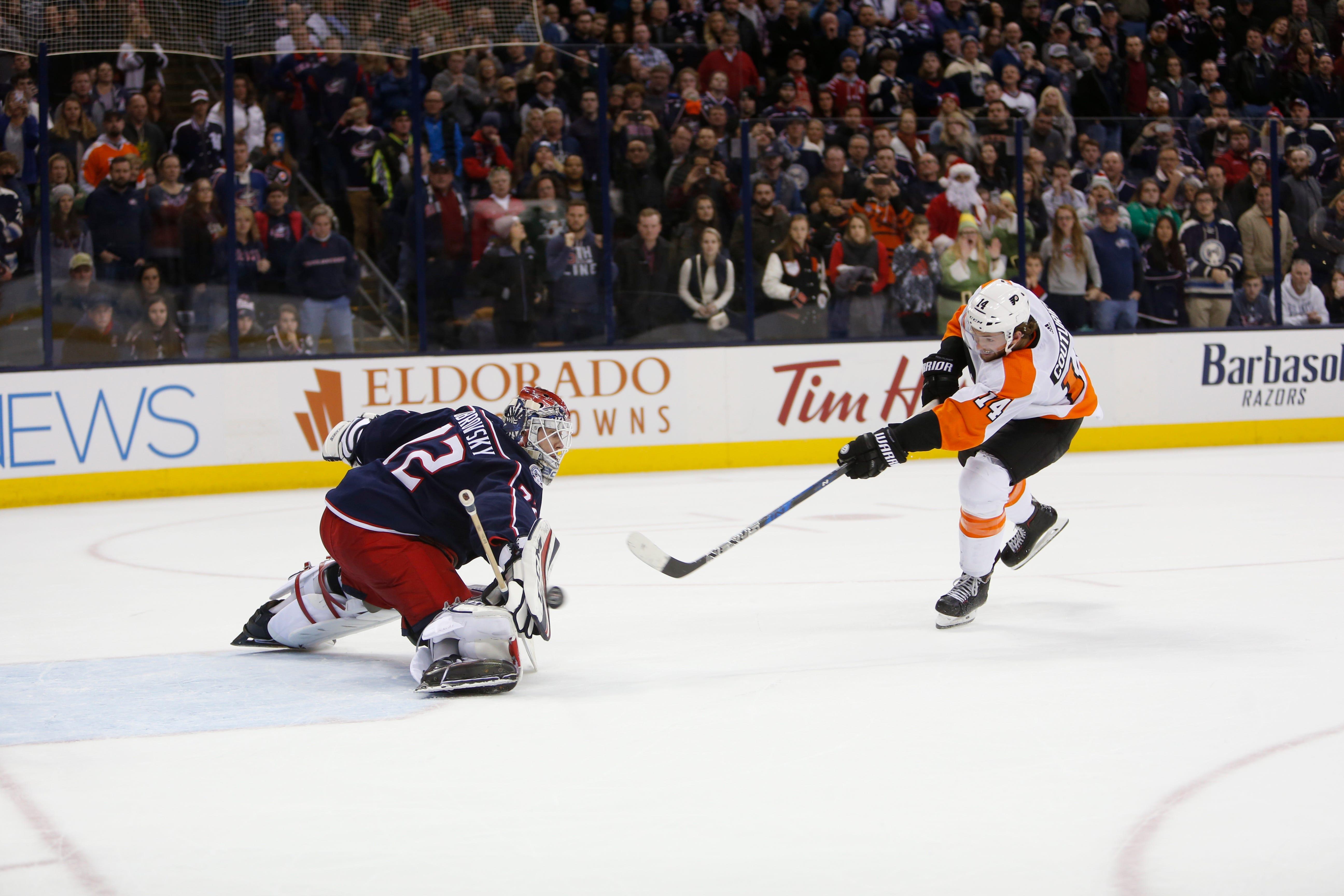 DuBois' 1st shootout goal lifts Blue Jackets over Flyers 2-1