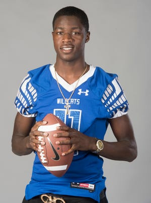 Mystikal McGhee in the PNJ studio as part of the 2018 football All-Area team.