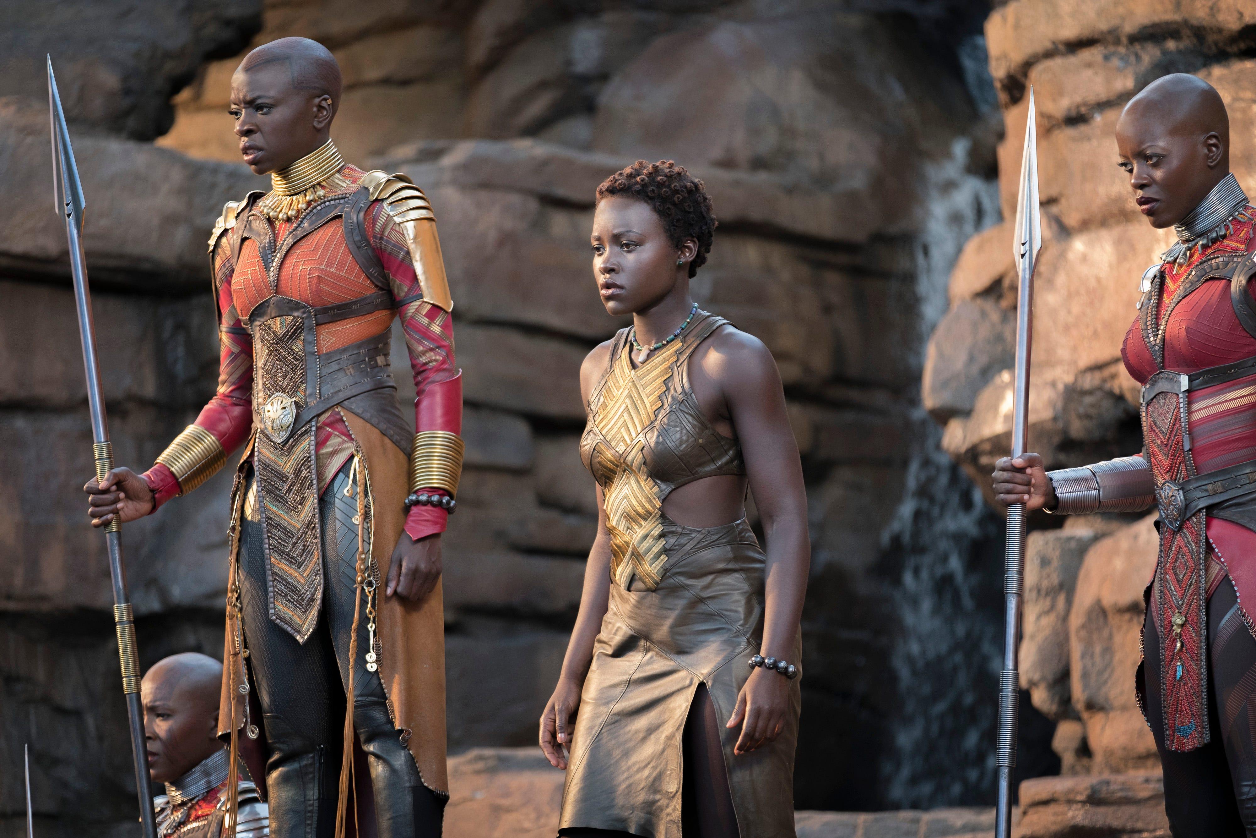 Black Panther New Still Features Danai Gurira And Lupita