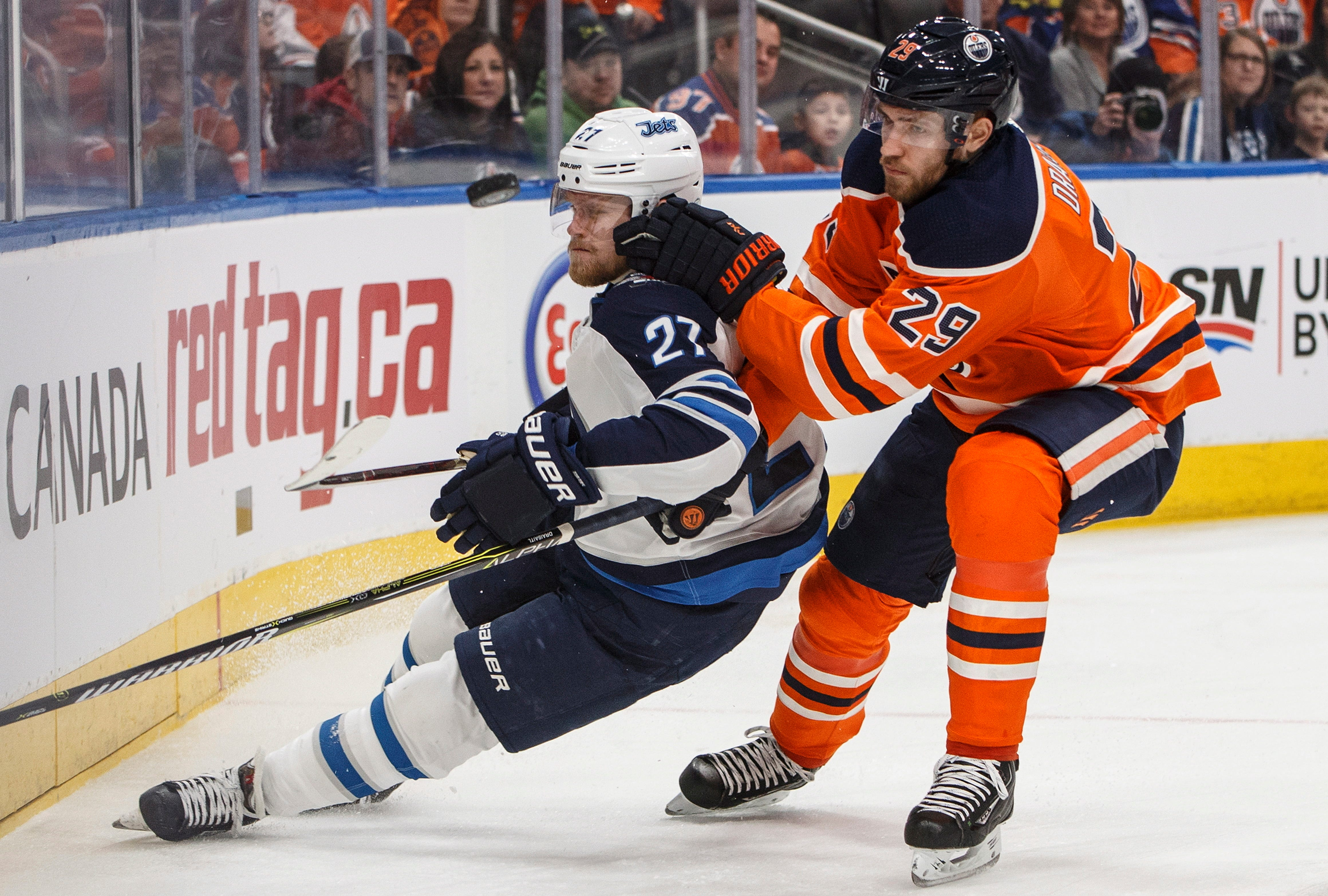 Connor Hellebuyck makes 35 saves, Jets beat Oilers 5-0