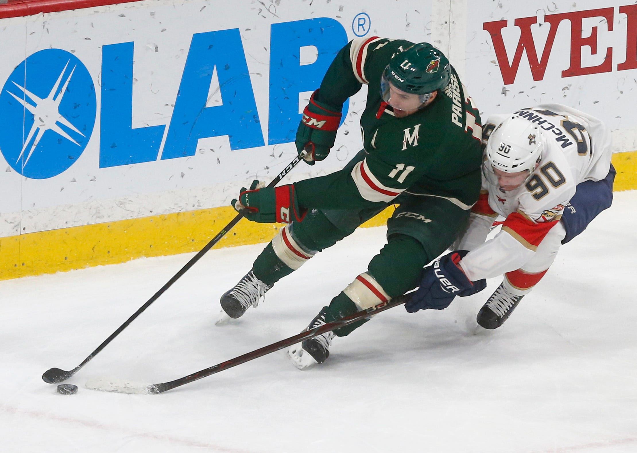 Cullen, Staal each score 2 in Wild's 5-1 win over Panthers