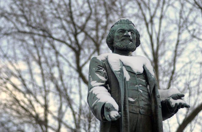 Statue of Frederick Douglass in Frederick Douglass Square on South Avenue.