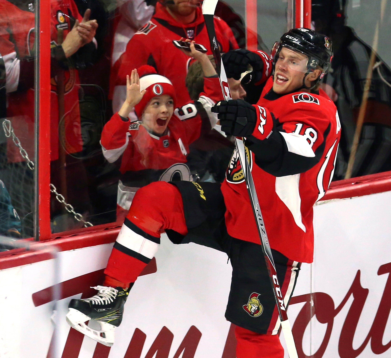 Duchene gets 2nd goal in OT, Senators beat Sharks 6-5