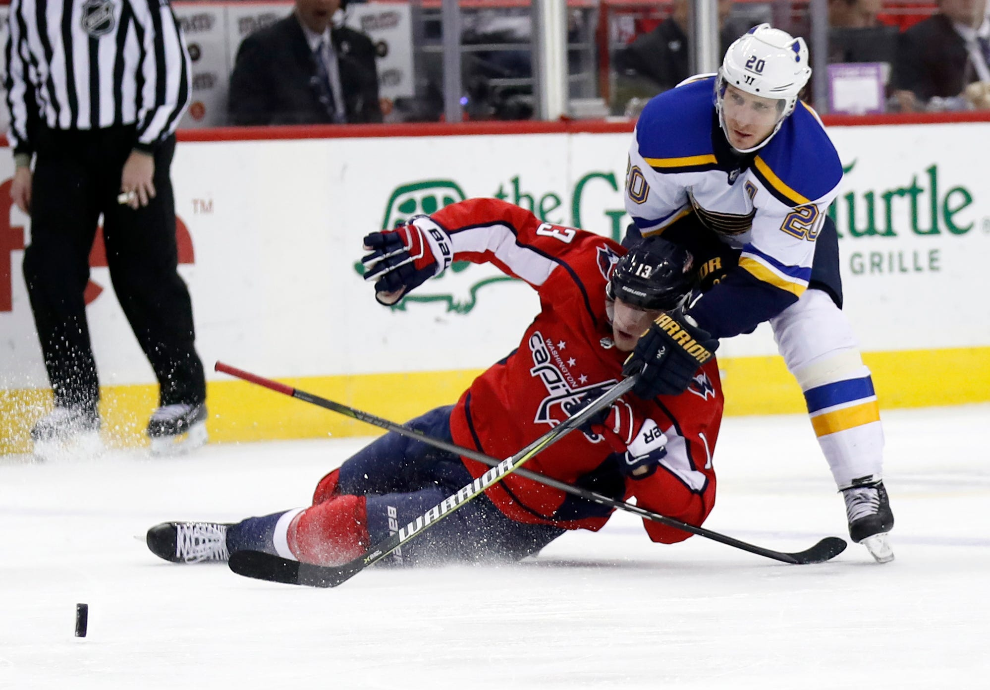 Backstrom, Ovechkin power Capitals past Blues, 4-3 in OT