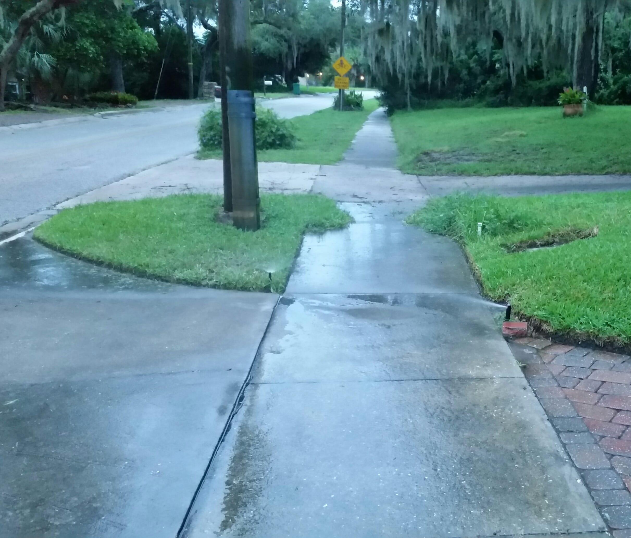 636514333134871813-irrigation-watering-the-sidewalk---Copy Watering Plants Efficiently