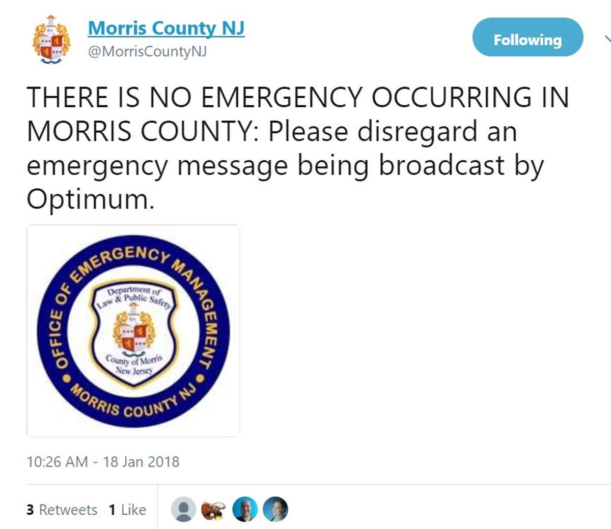 Emergency' alert jolts New Jersey cable TV viewers