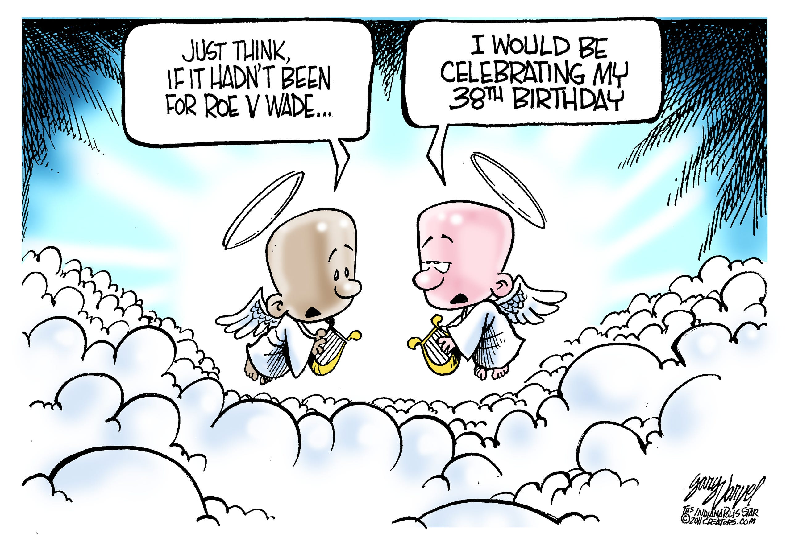 Image result for political cartoon abortion baby in heaven