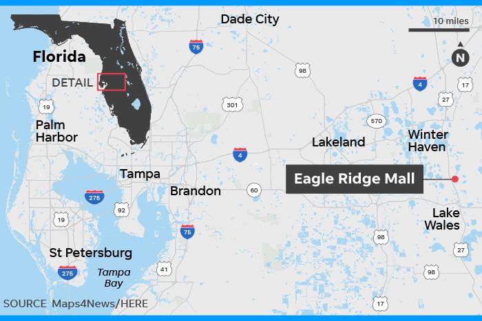 Map Of Florida Mall.Eagle Ridge Mall 2 Ieds Detonated At Mall No Injuries Police Say