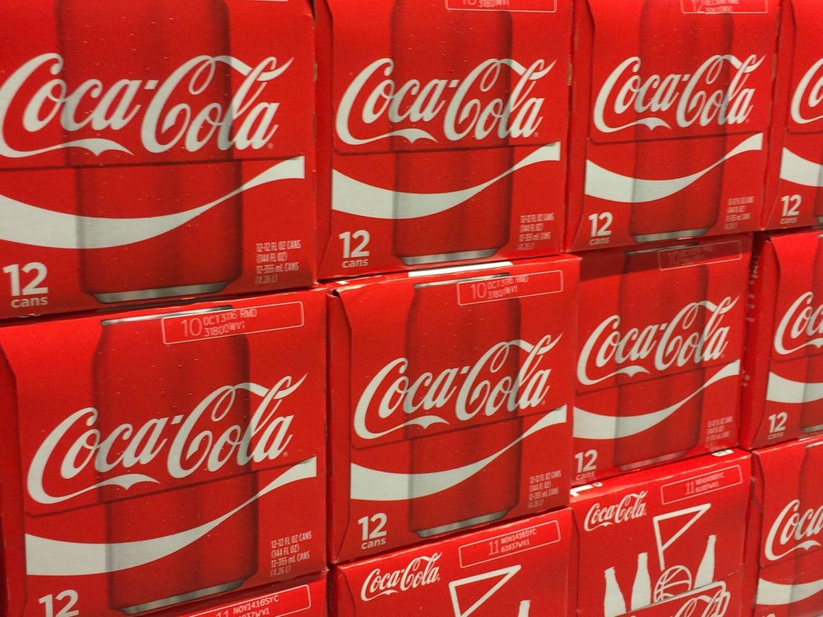 Coca-Cola soda flat, but water sales sparkle