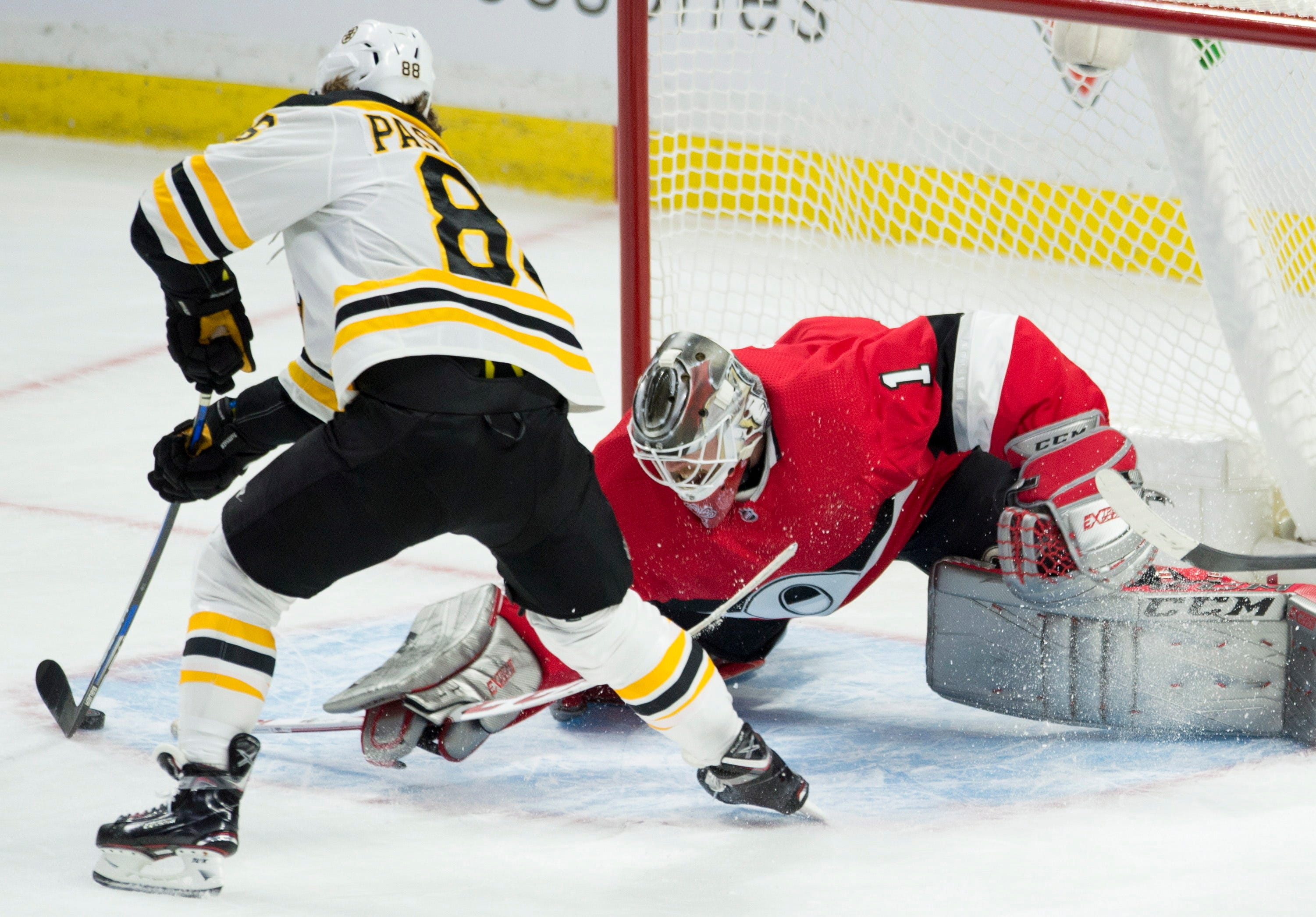 Bruins keep rolling, beat Senators for fifth straight win
