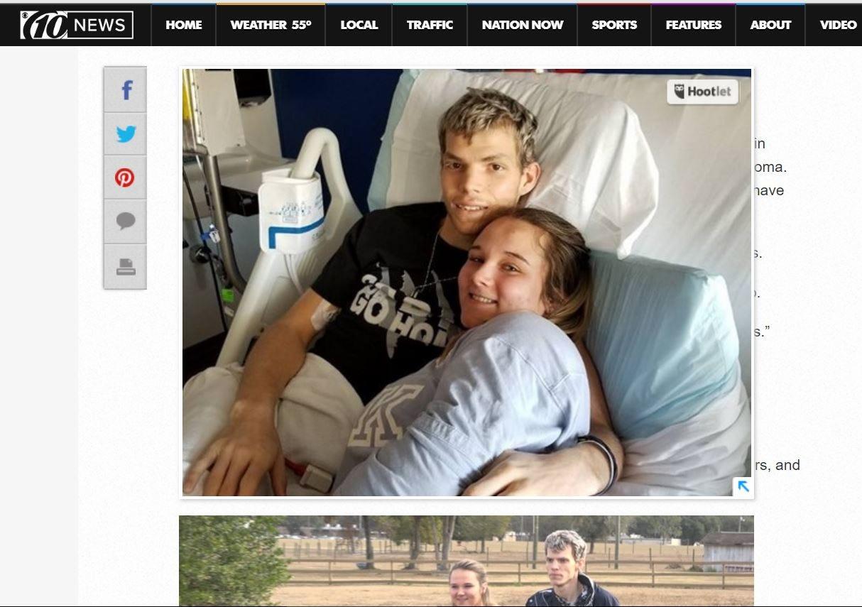 Dying teen's last wish: Marry his high school sweetheart