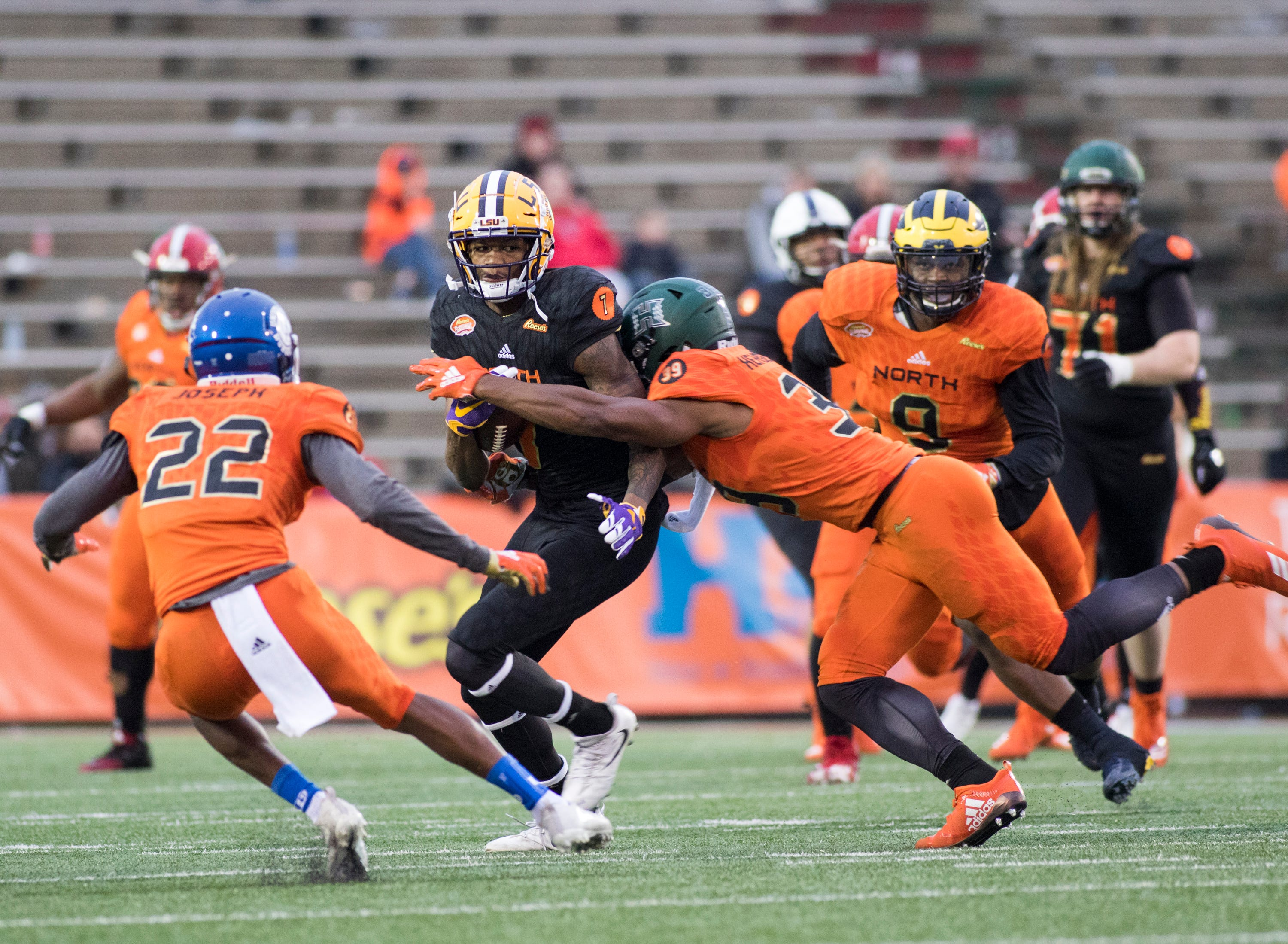 LSU's D.J. Chark spun stats at Senior Bowl, and LaCouture and Gilmore combined for havoc