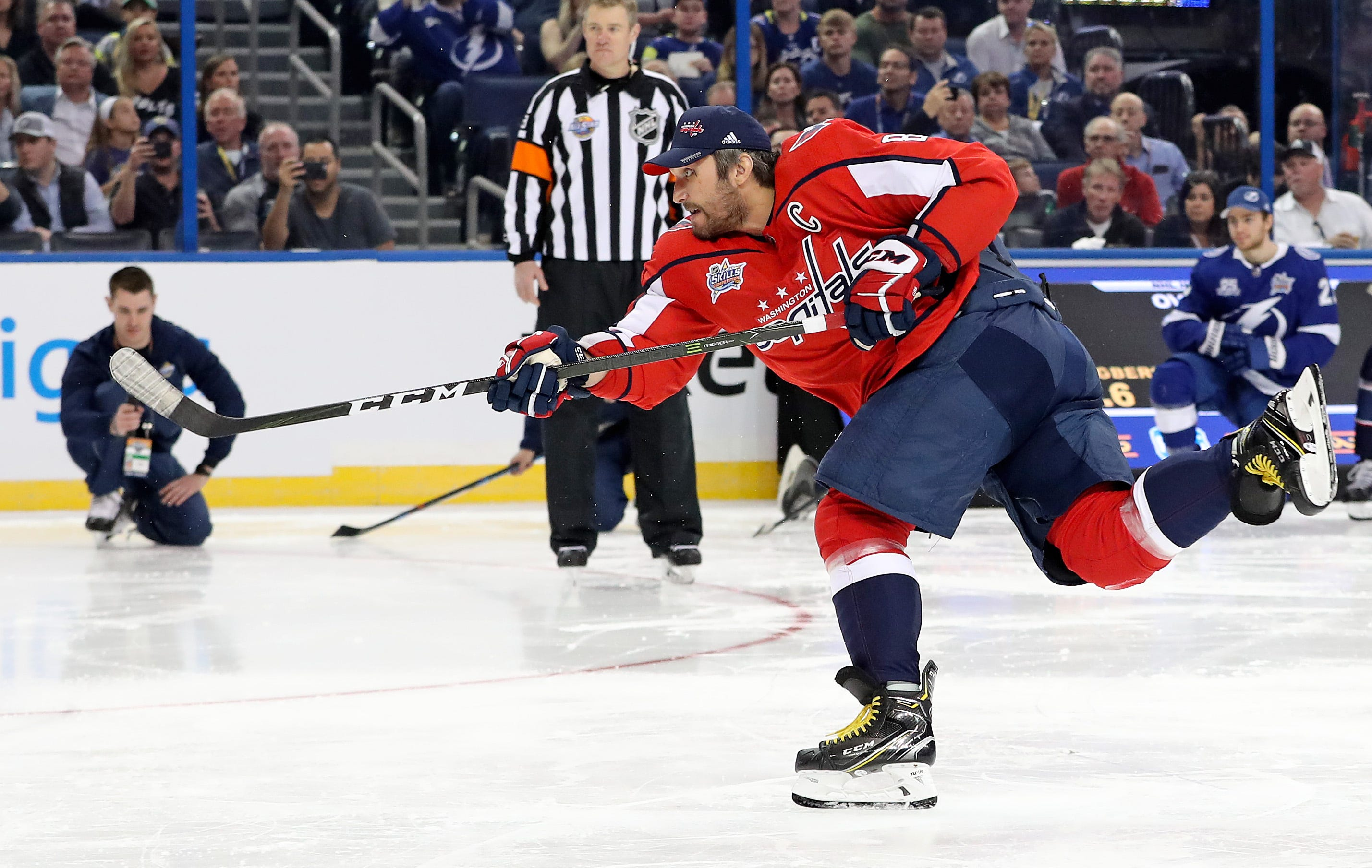 Alex Ovechkin has hardest shot at NHL All-Star skills competition