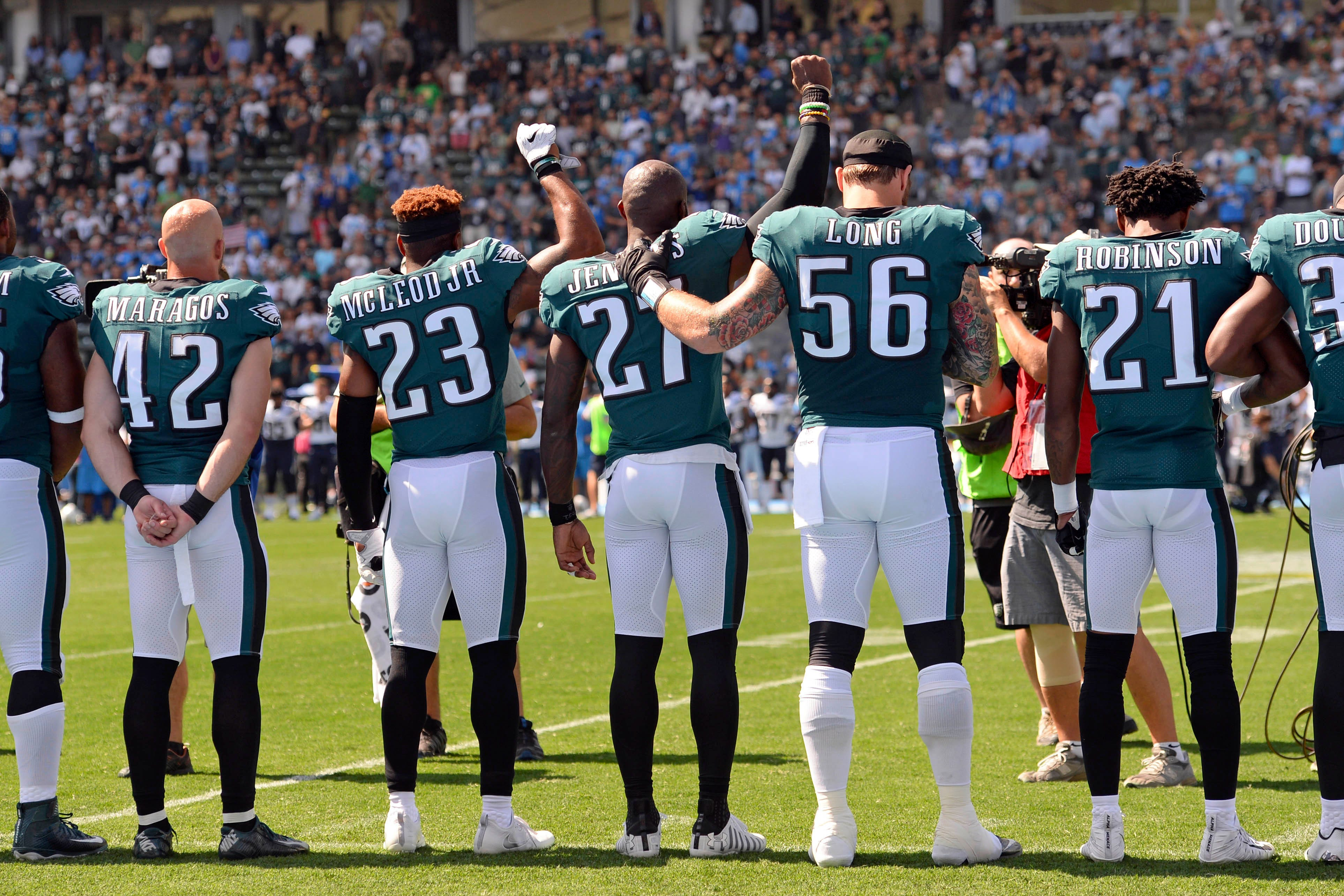 Eagles stars Malcolm Jenkins, Chris Long making even larger impacts off football field