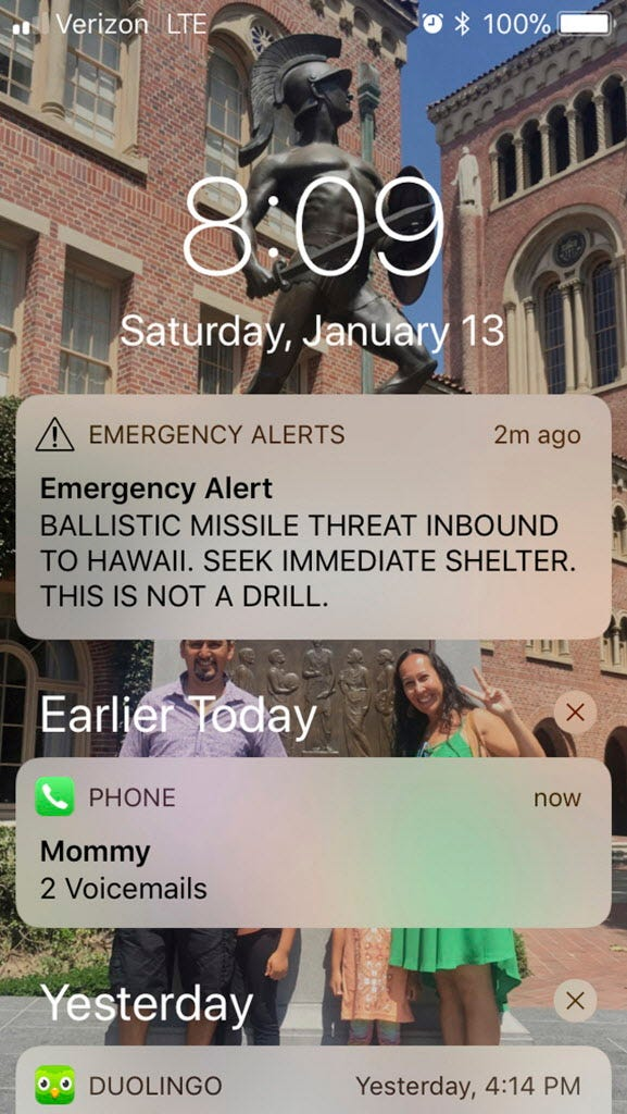 Hawaii emergency chief resigns, officer fired over false missile alert